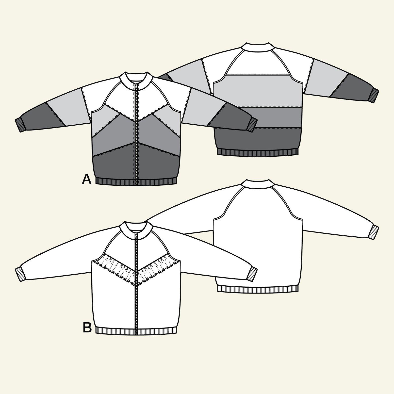 Jackets w. raglan + flounce, 104/4y p64018_pack