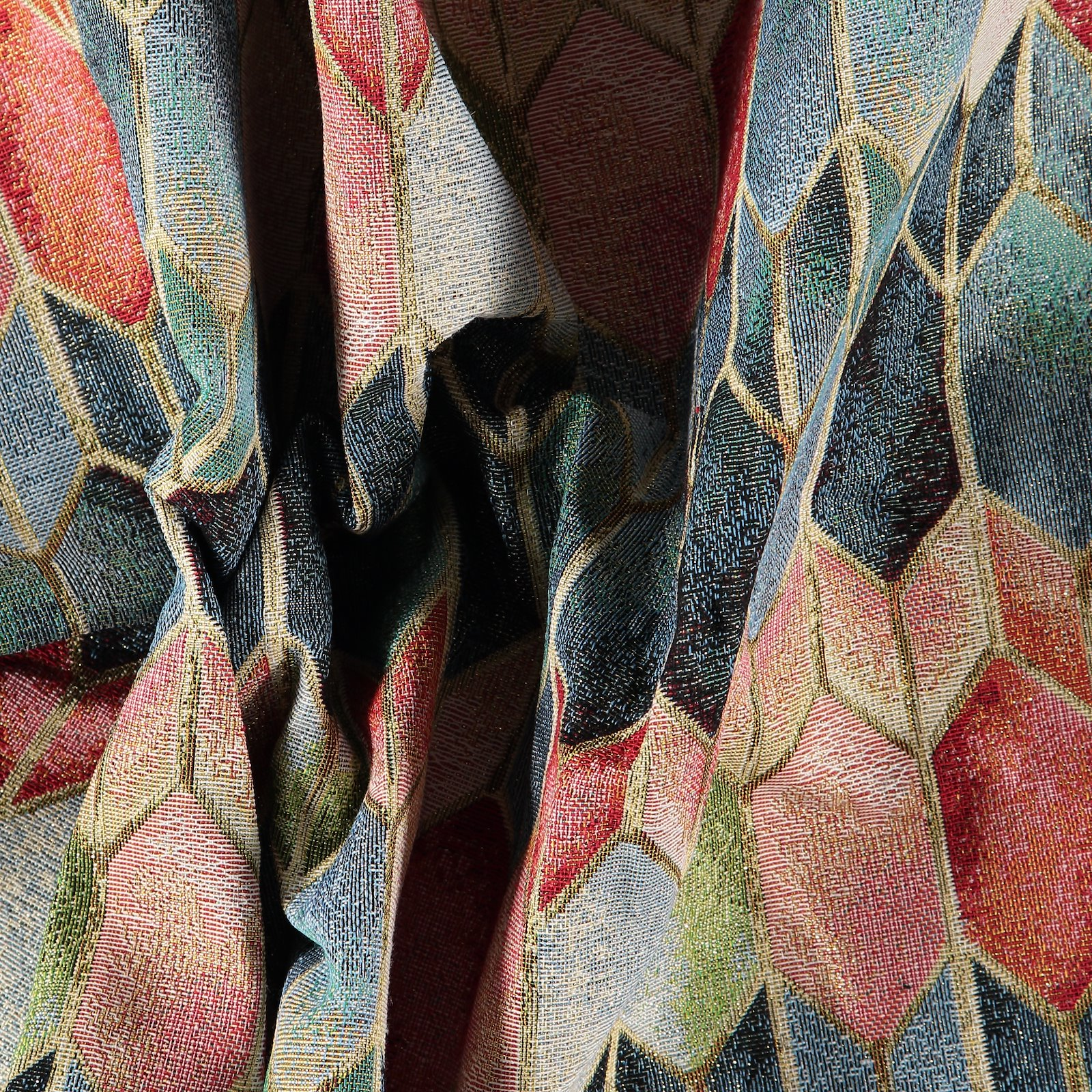 Jacquard blue/red/gold graphic pattern 823995_pack