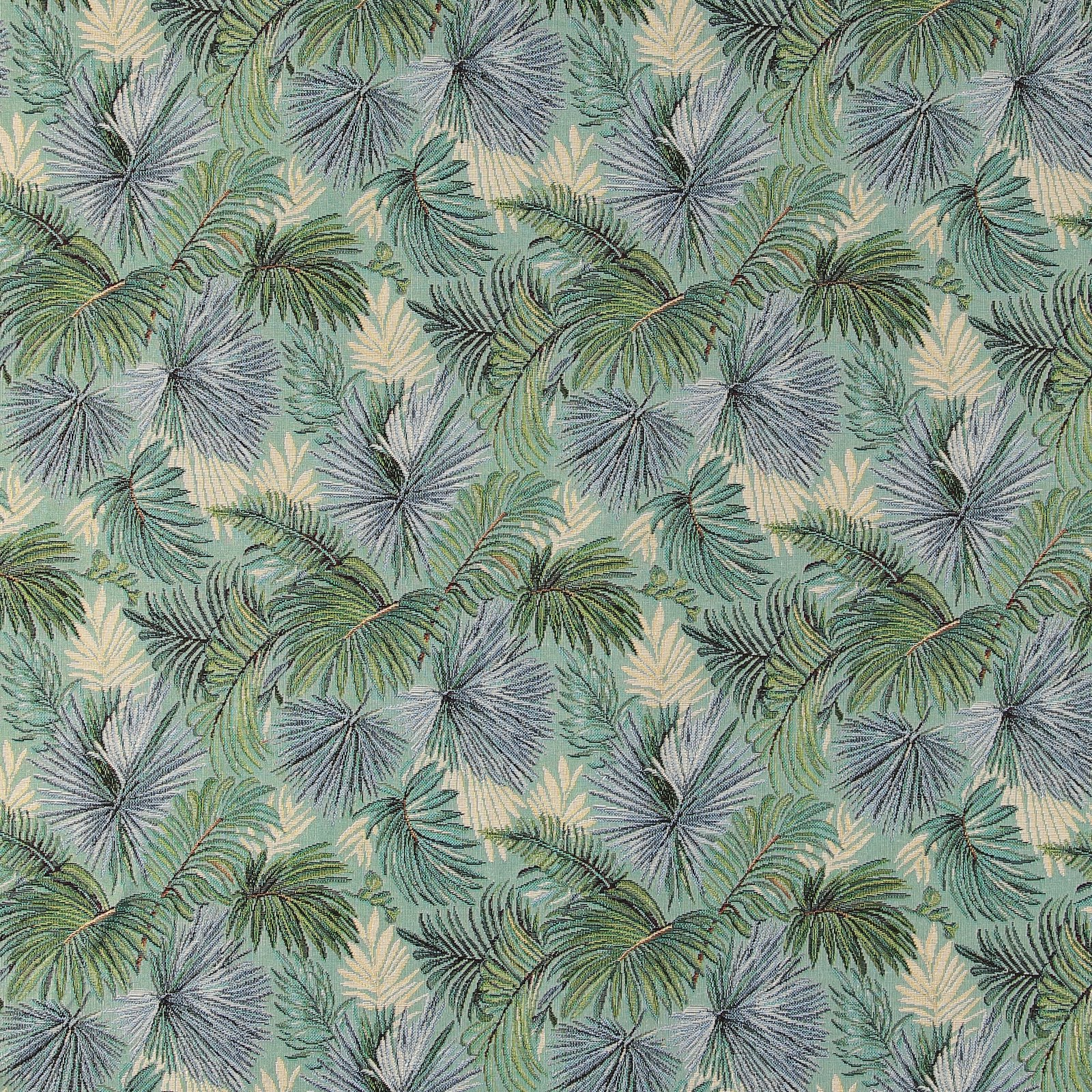 Jacquard tuquise with palm leaves 823999_pack_lp
