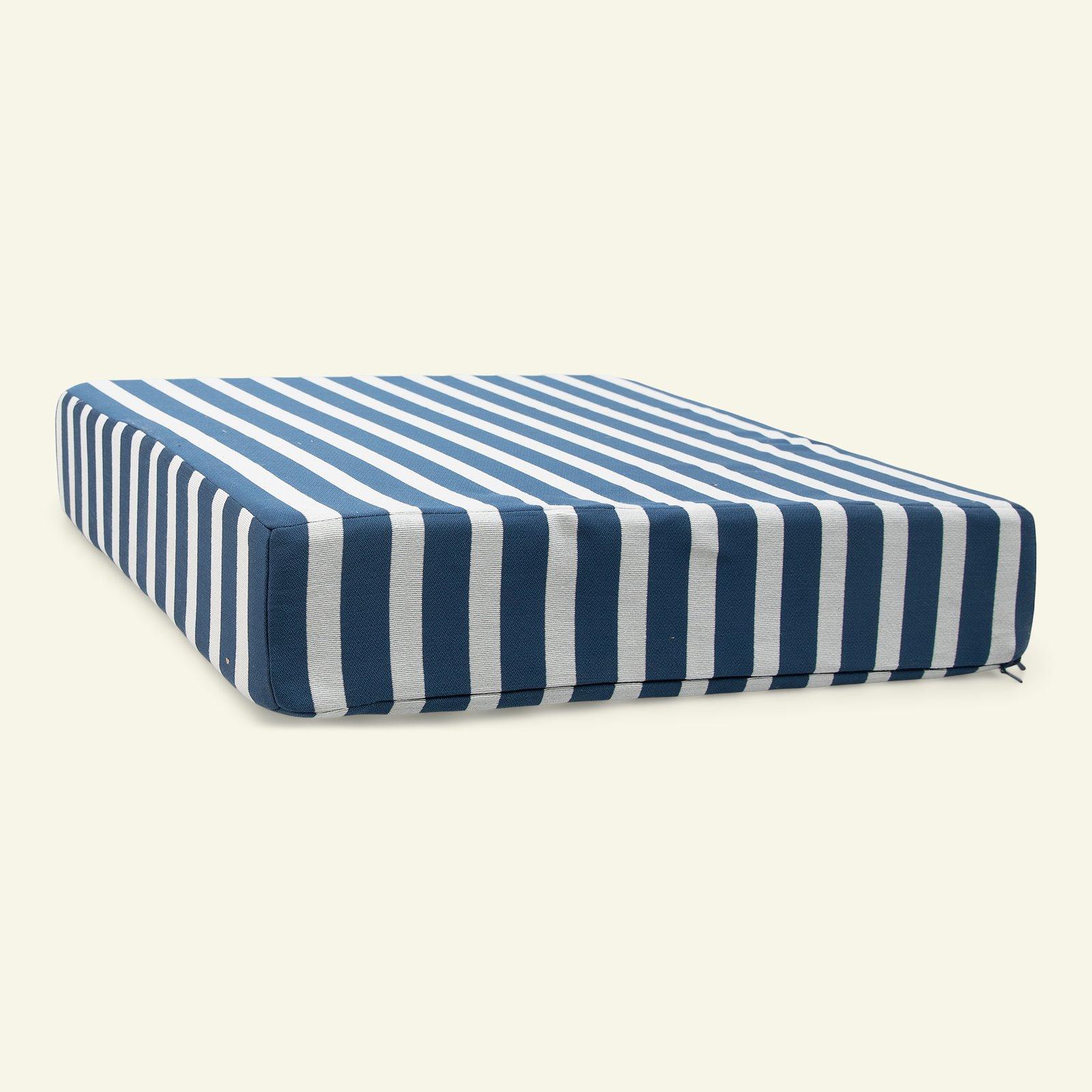 Jacquard yarn dyed petrol/sand stripe 824066_sskit