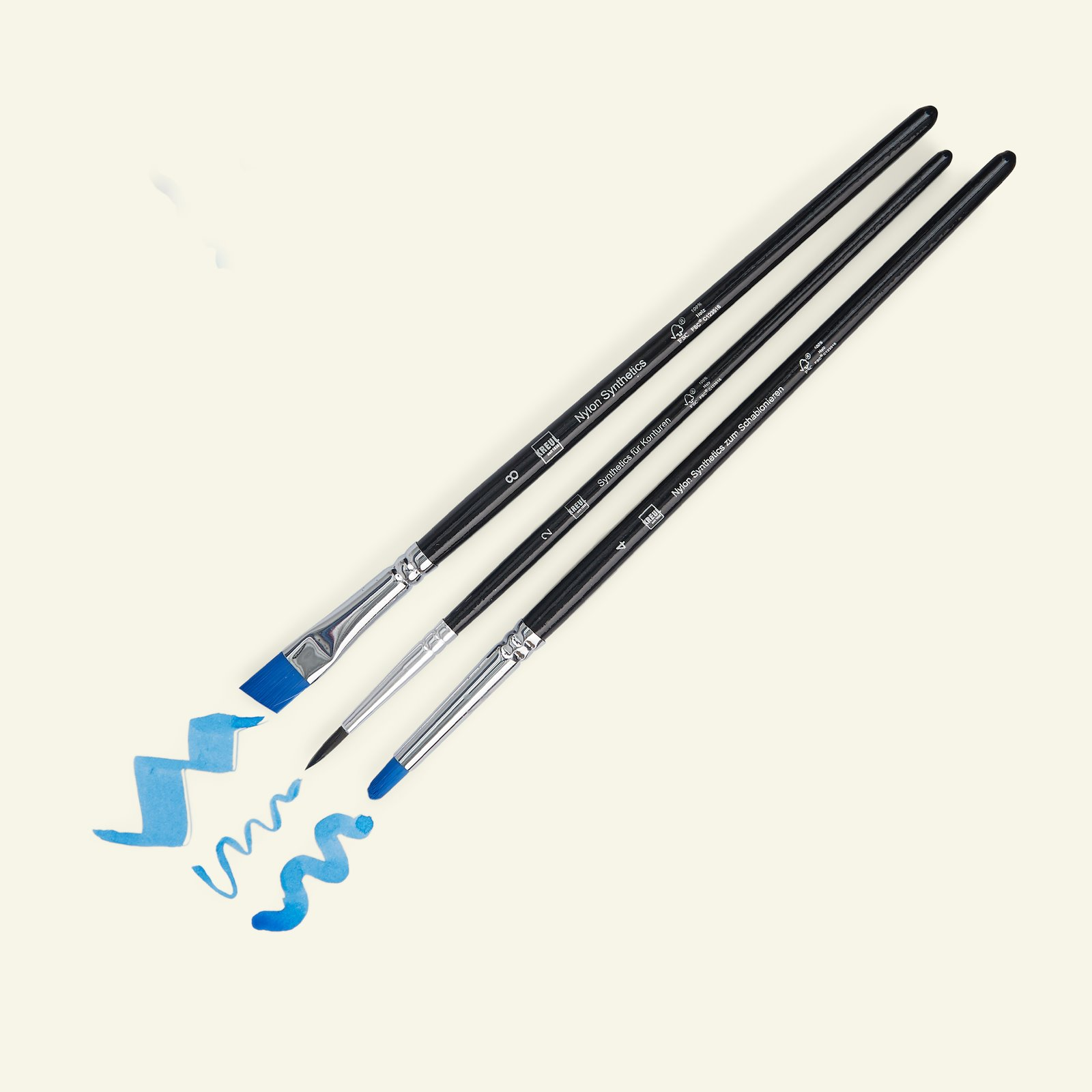 Javana brushes for coarse textiles 3pcs 29186_pack