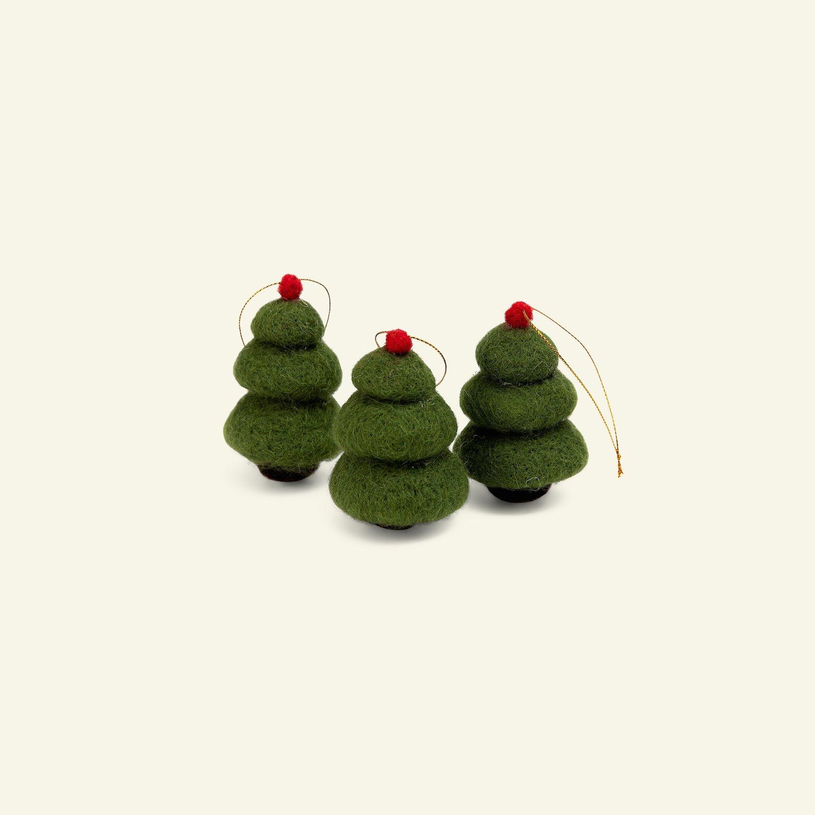 Kit wool tree 6cm green 3pcs 93790_pack
