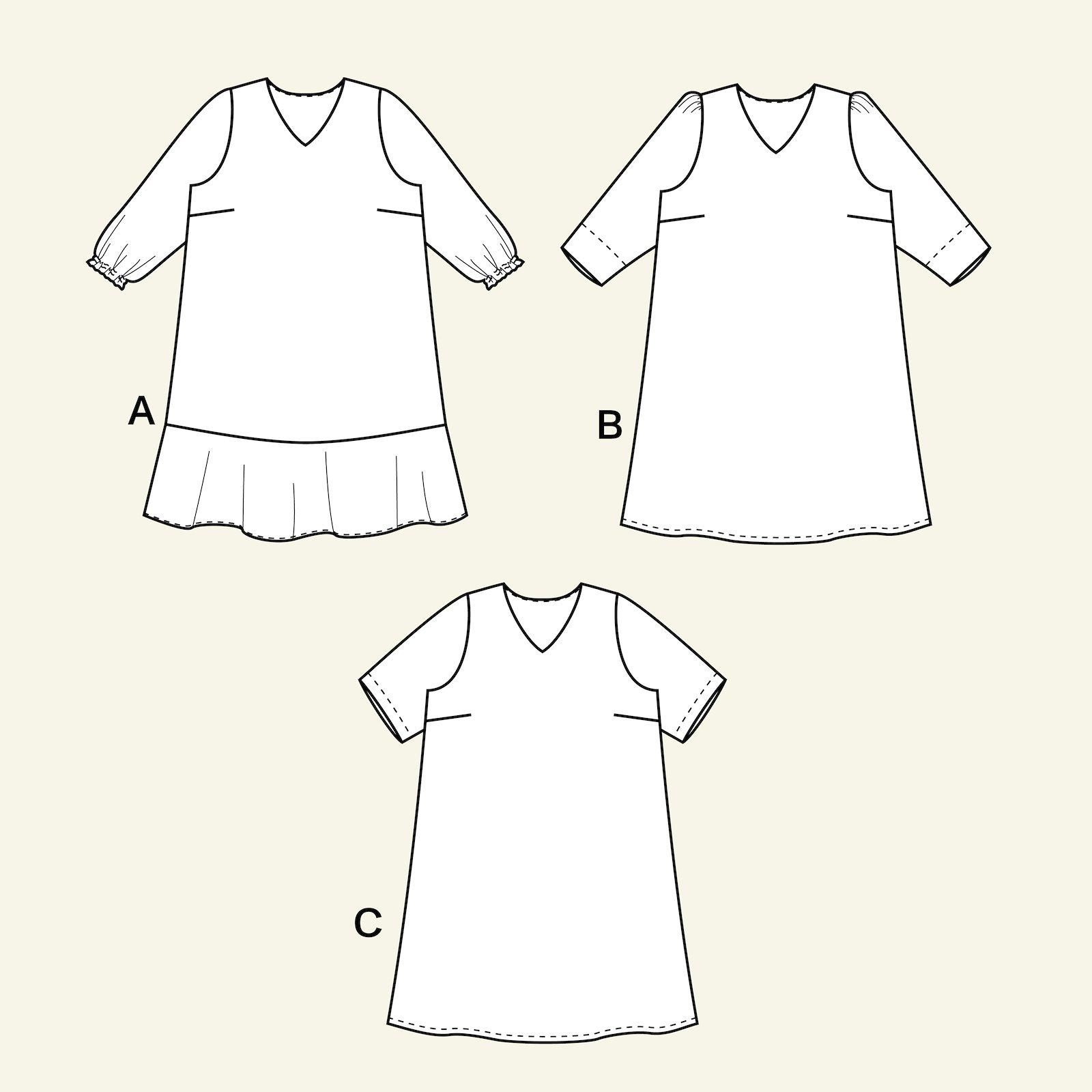 Kleid mit langen und kürzen Ärmeln p73018_pack