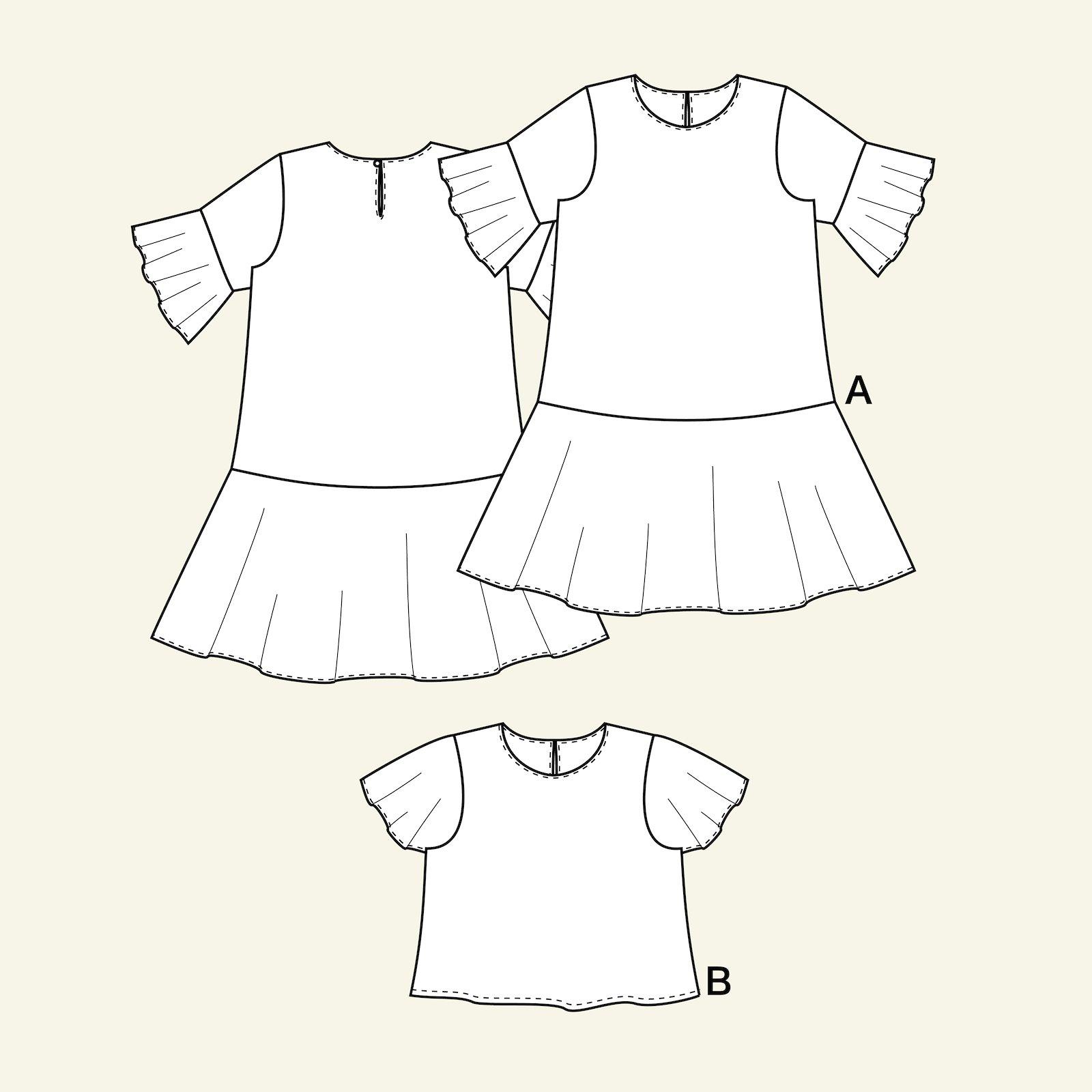 Kleid und Bluse mit Rüsche p63066_pack