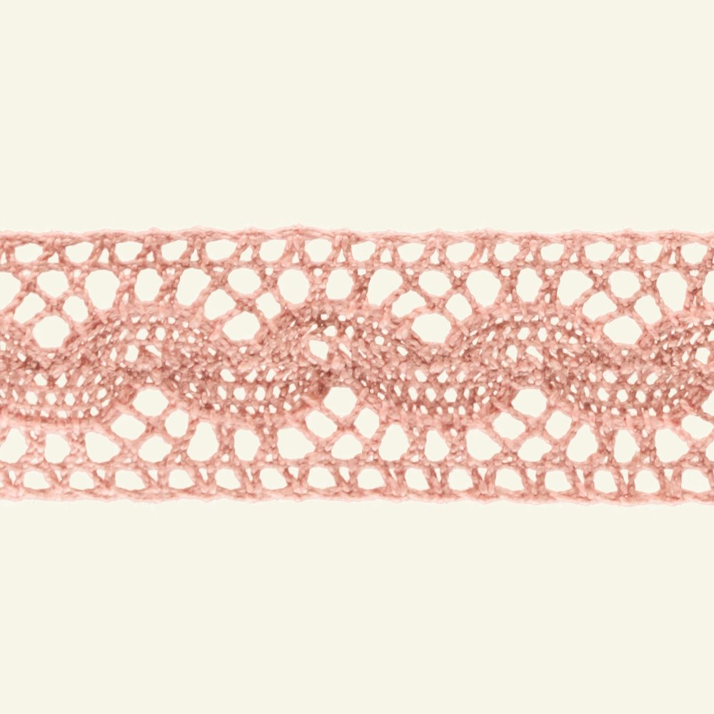 Lace trimming 30mm dusty rose 3m 21049_pack