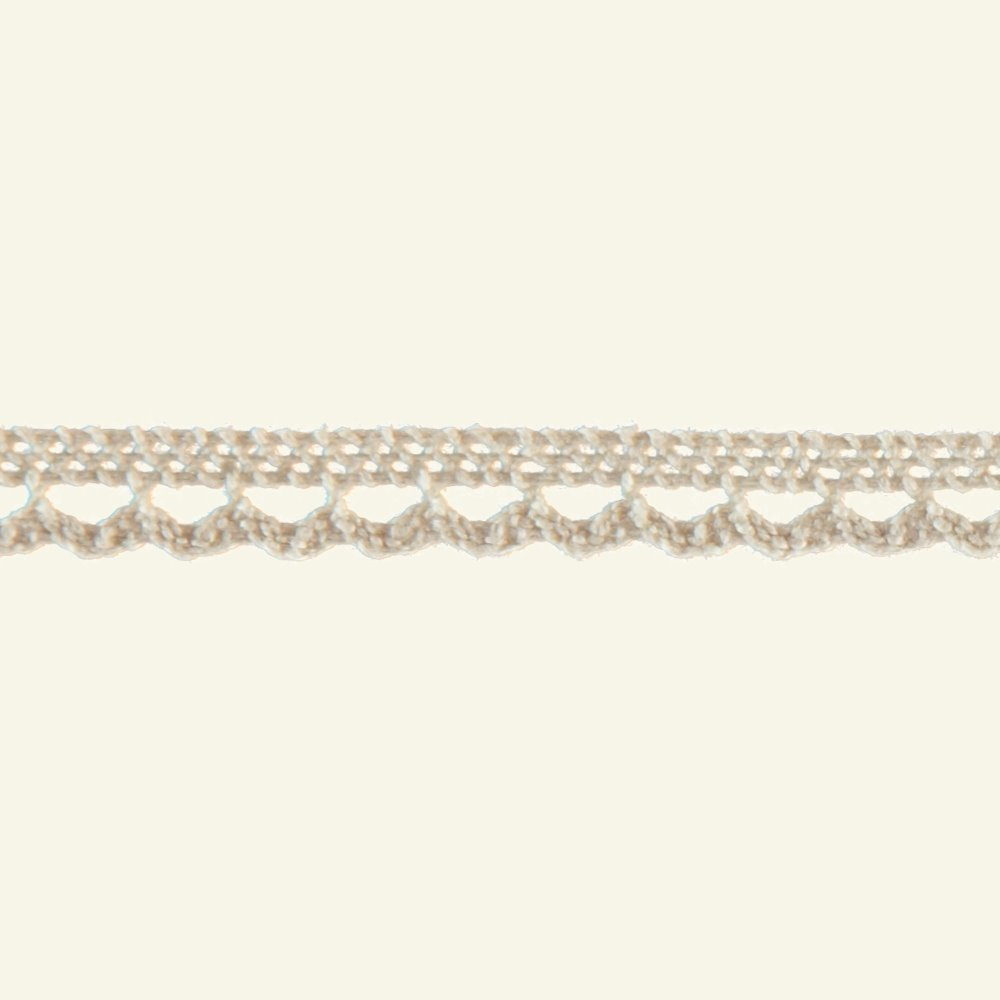 Lace trimming scalloped 10mm nature 3m 21020_pack