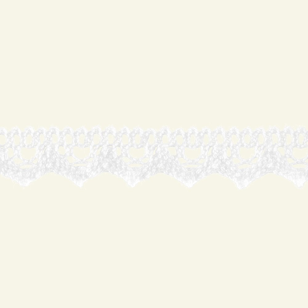 Lace trimming scalloped 20mm white 3m 21031_pack