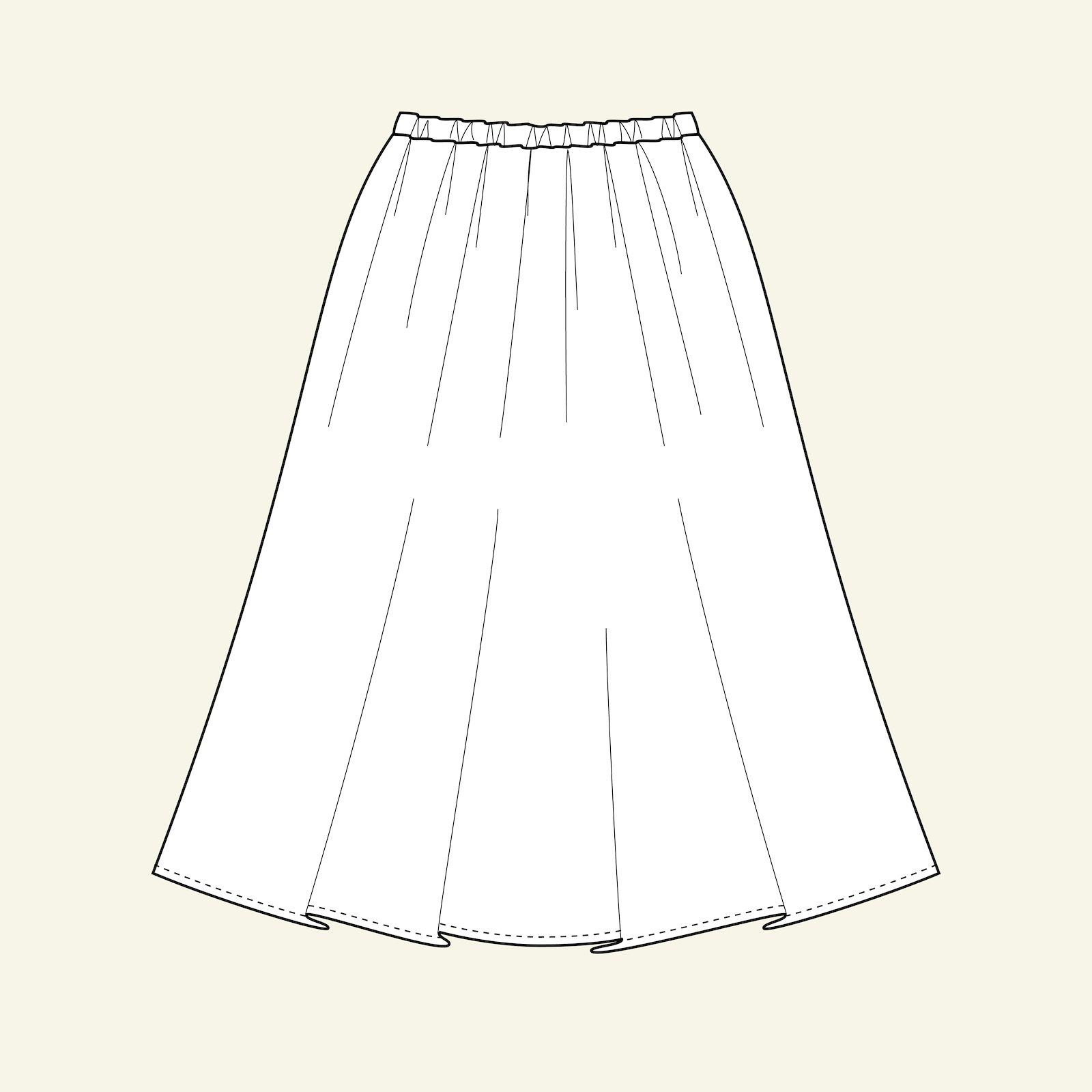 Long skirt, 128/8y p61015_pack