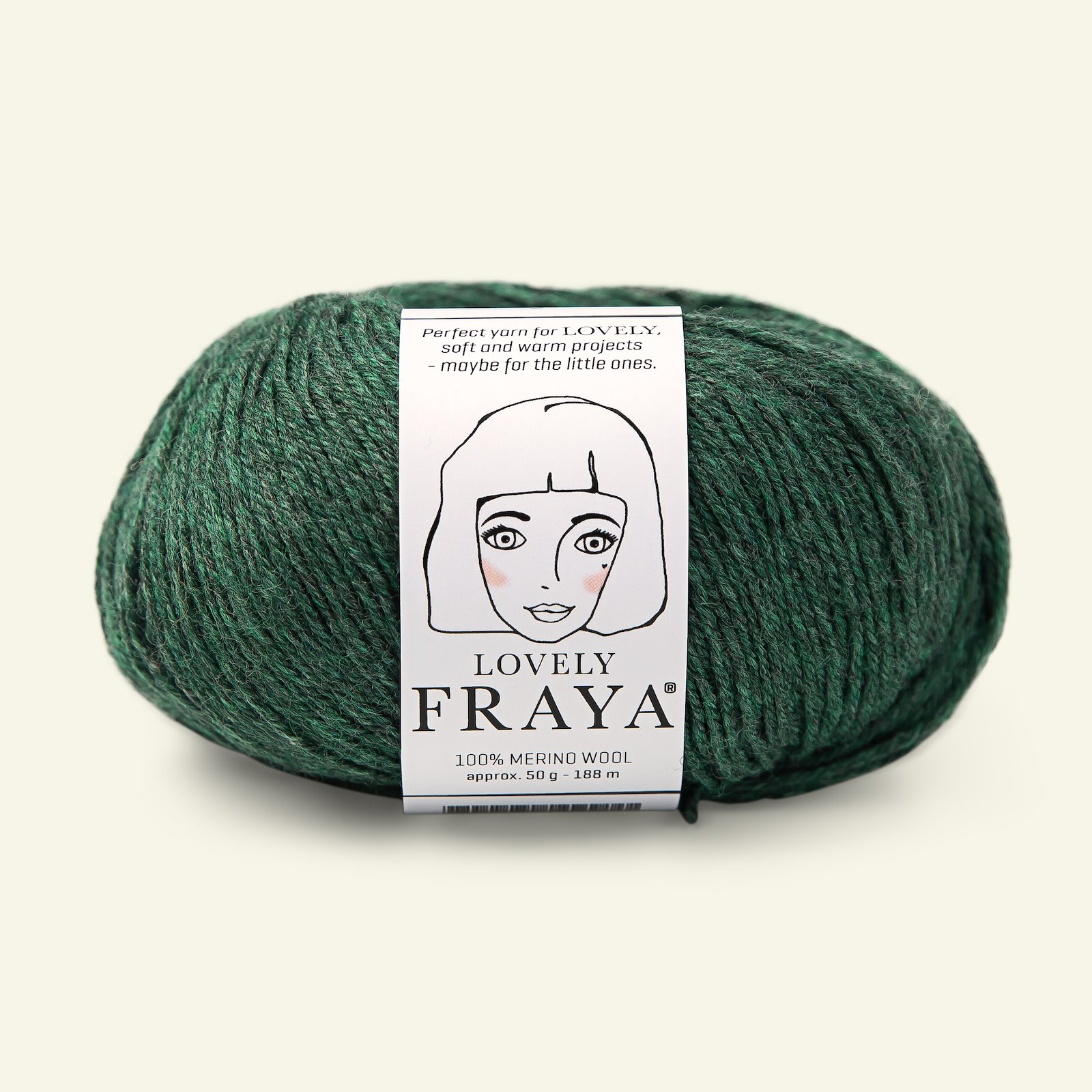 Lovely emerald green melange 50g 90054567_pack