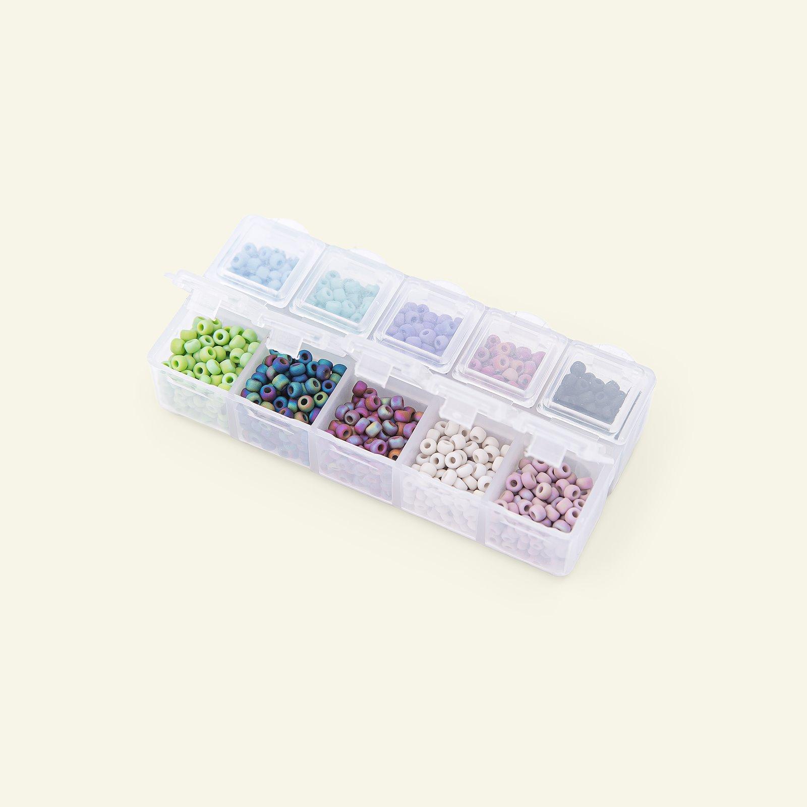 Matsuno Glasperlen rund 8/0 10farbig 40g 47197_pack_b