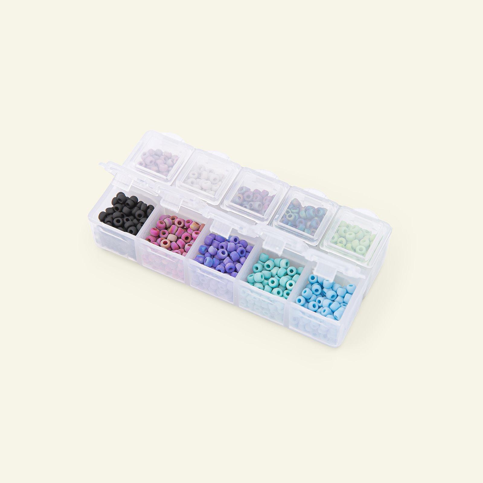 Matsuno Glasperlen rund 8/0 10farbig 40g 47197_pack_c