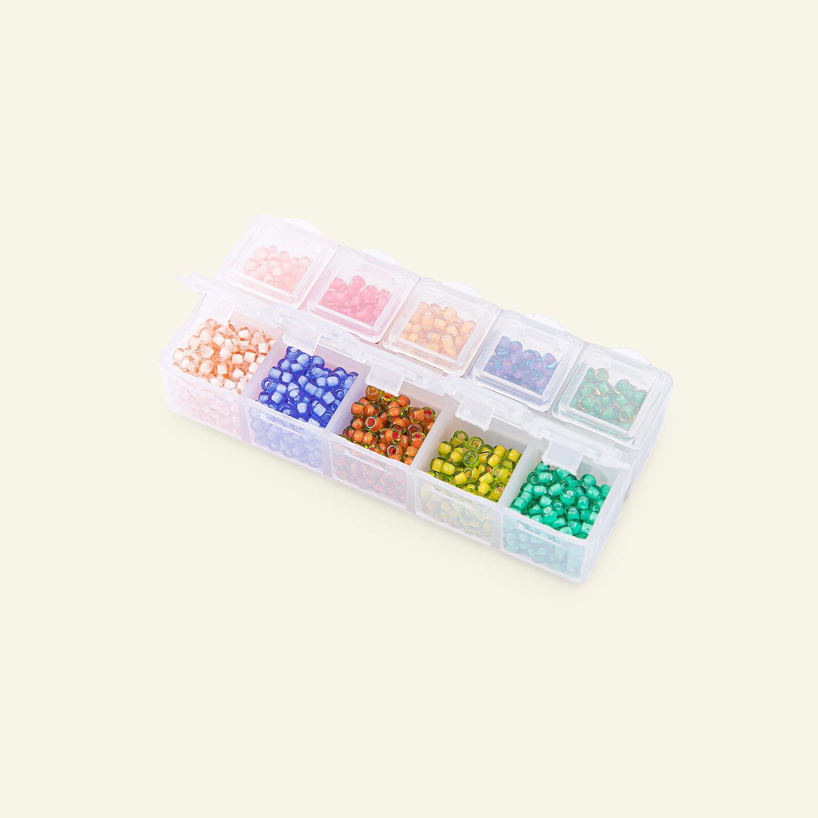Matsuno glass bead round 8/0 10 col. 40g 47198_pack_b
