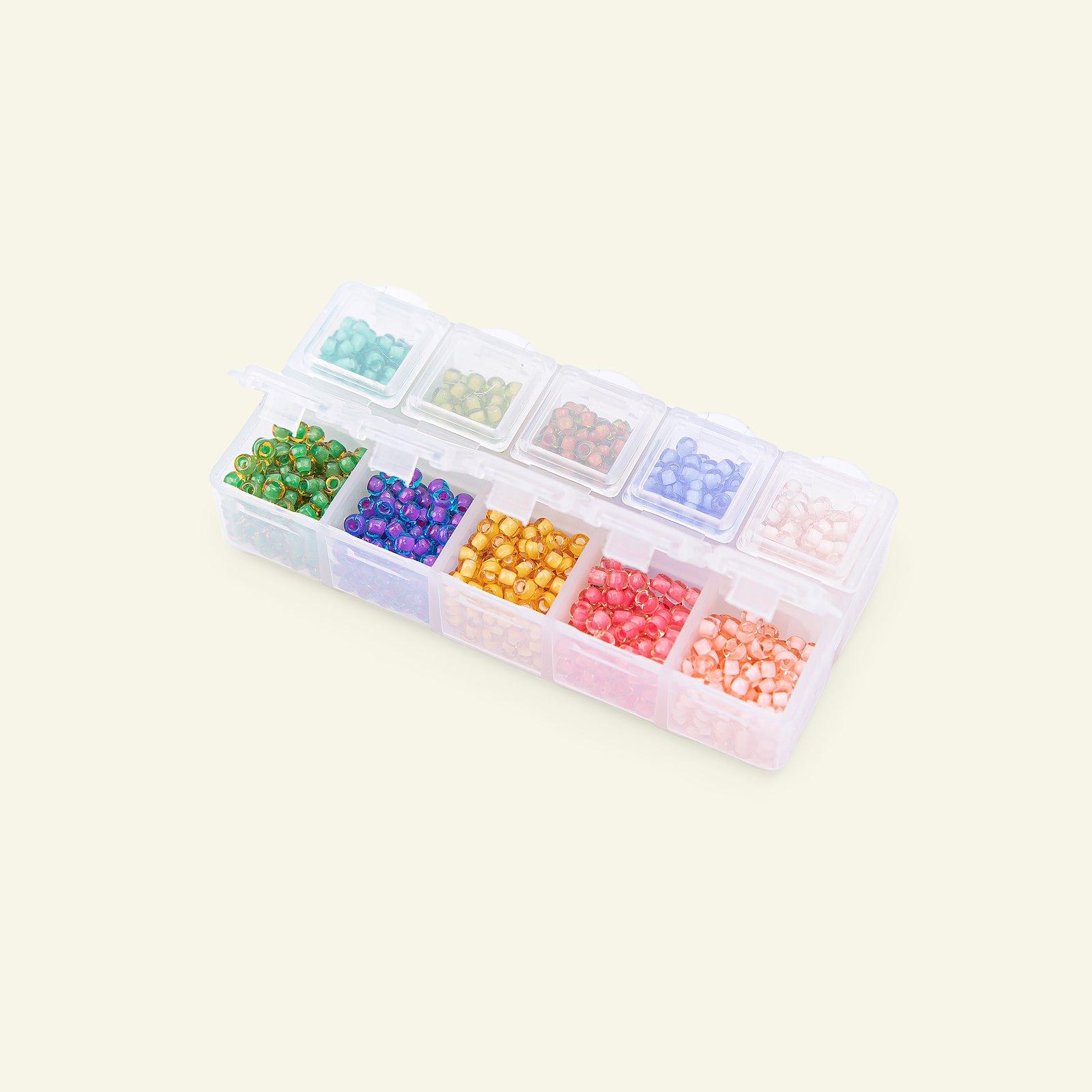 Matsuno glass bead round 8/0 10 col. 40g 47198_pack_c