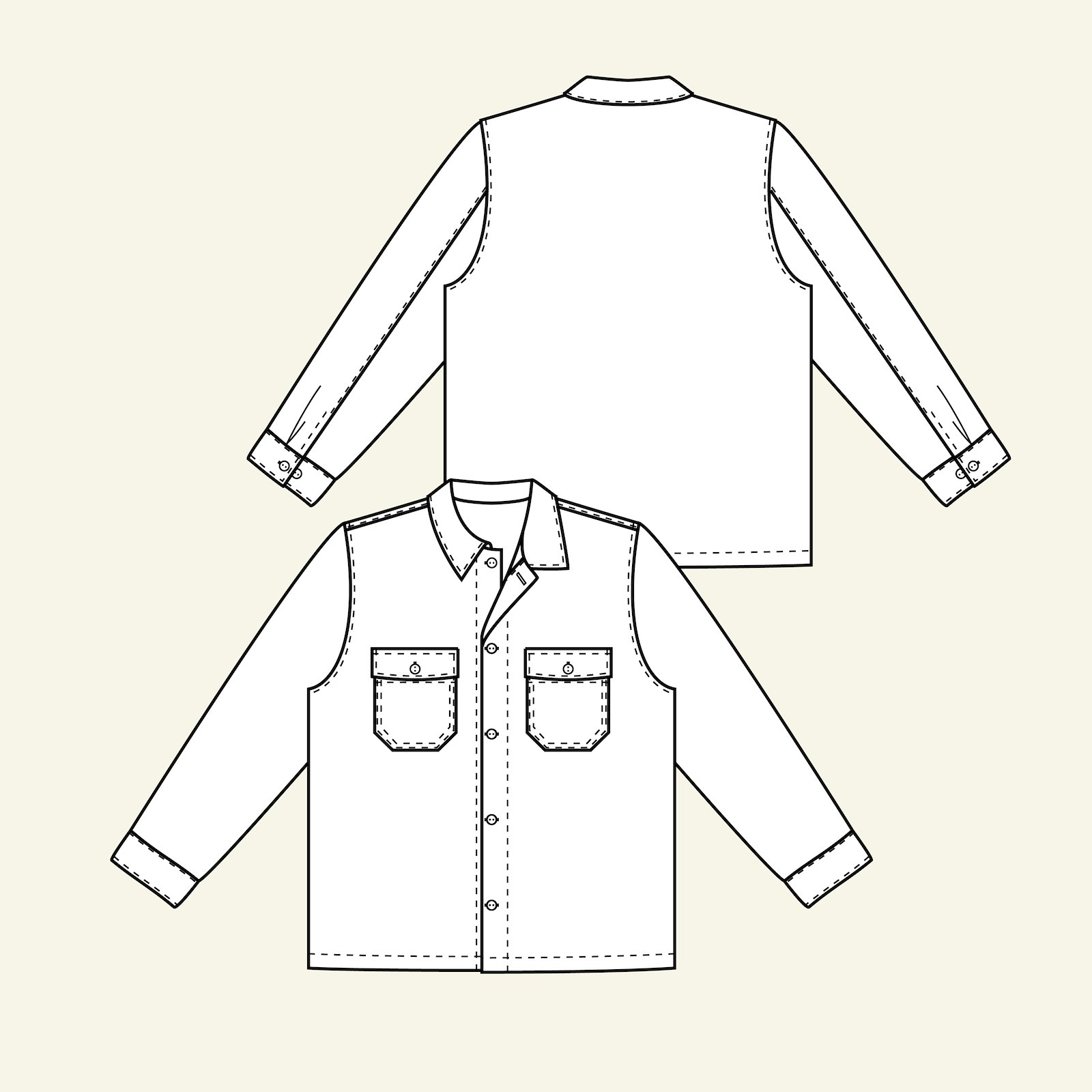 Men shirtjacket, M p87005_pack
