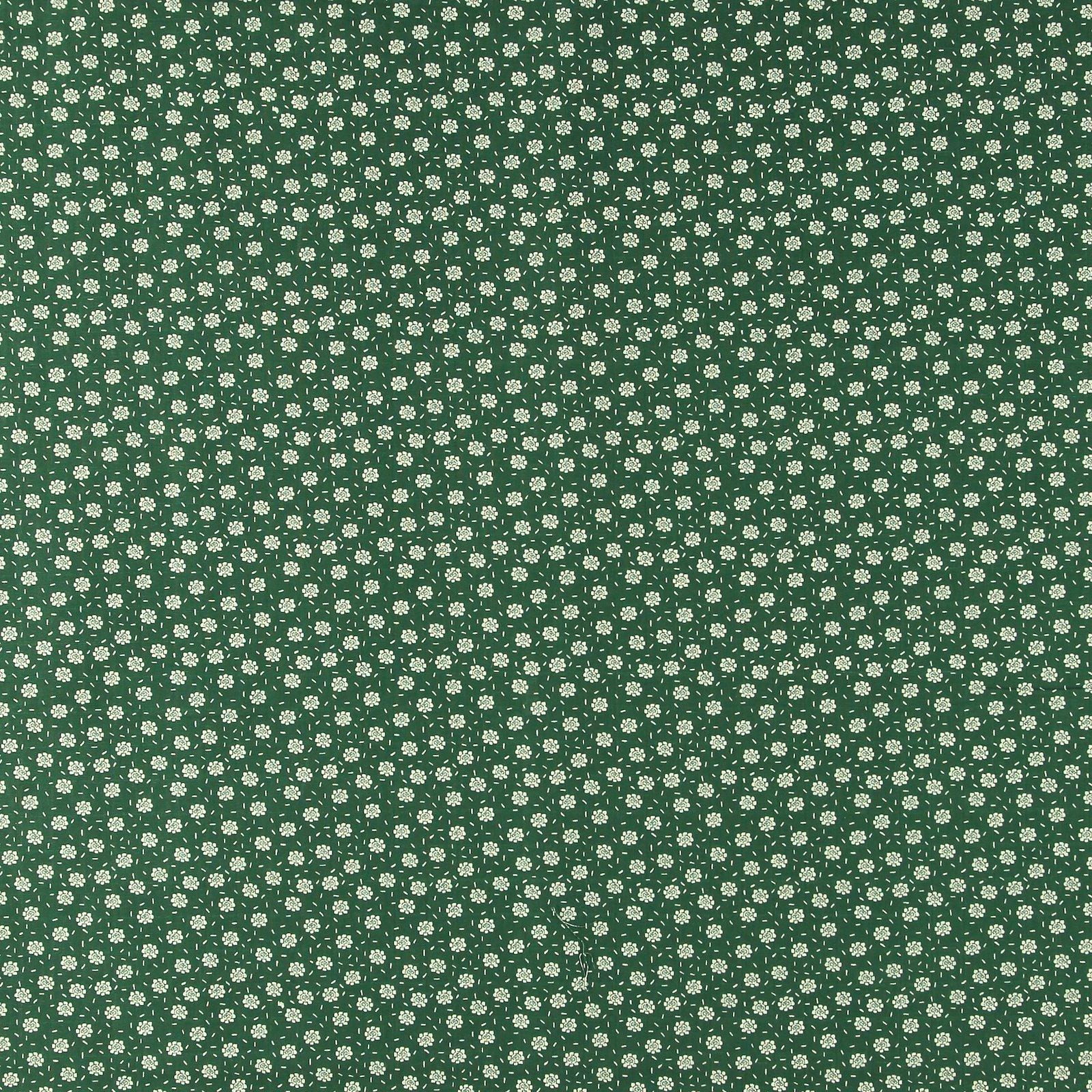 Muslin dark green with petite flowers 501864_pack_sp