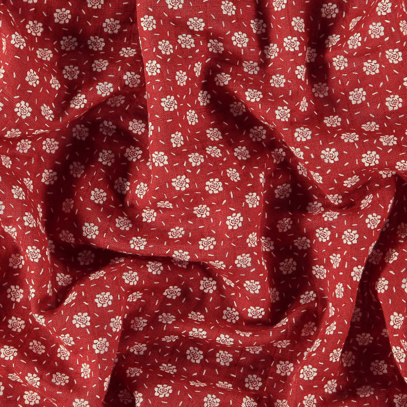 Muslin dusty red with petite flowers 501865_pack_b