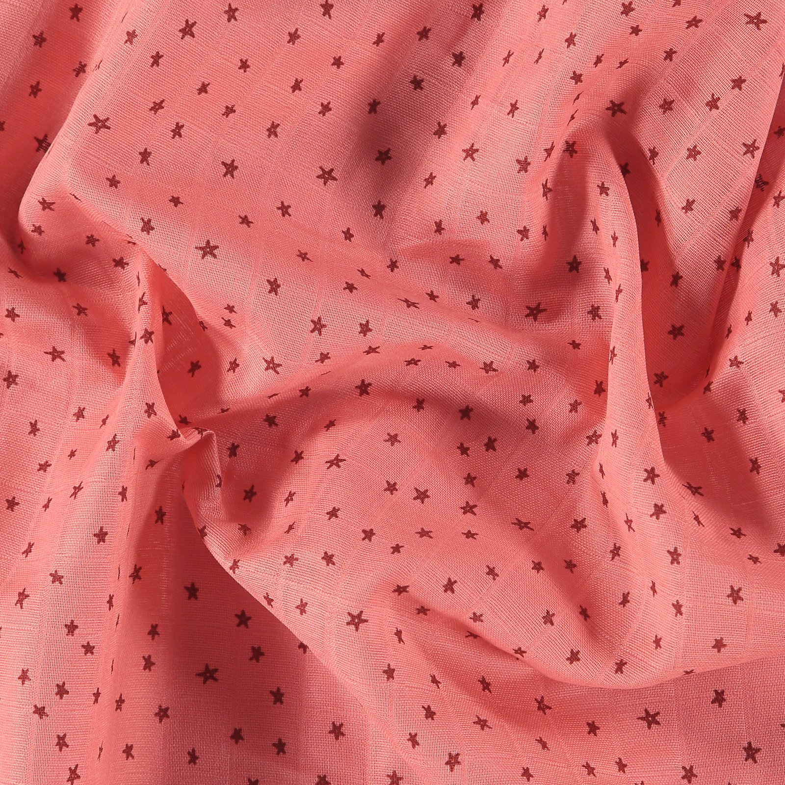 Muslin warm rose with stars 501862_pack