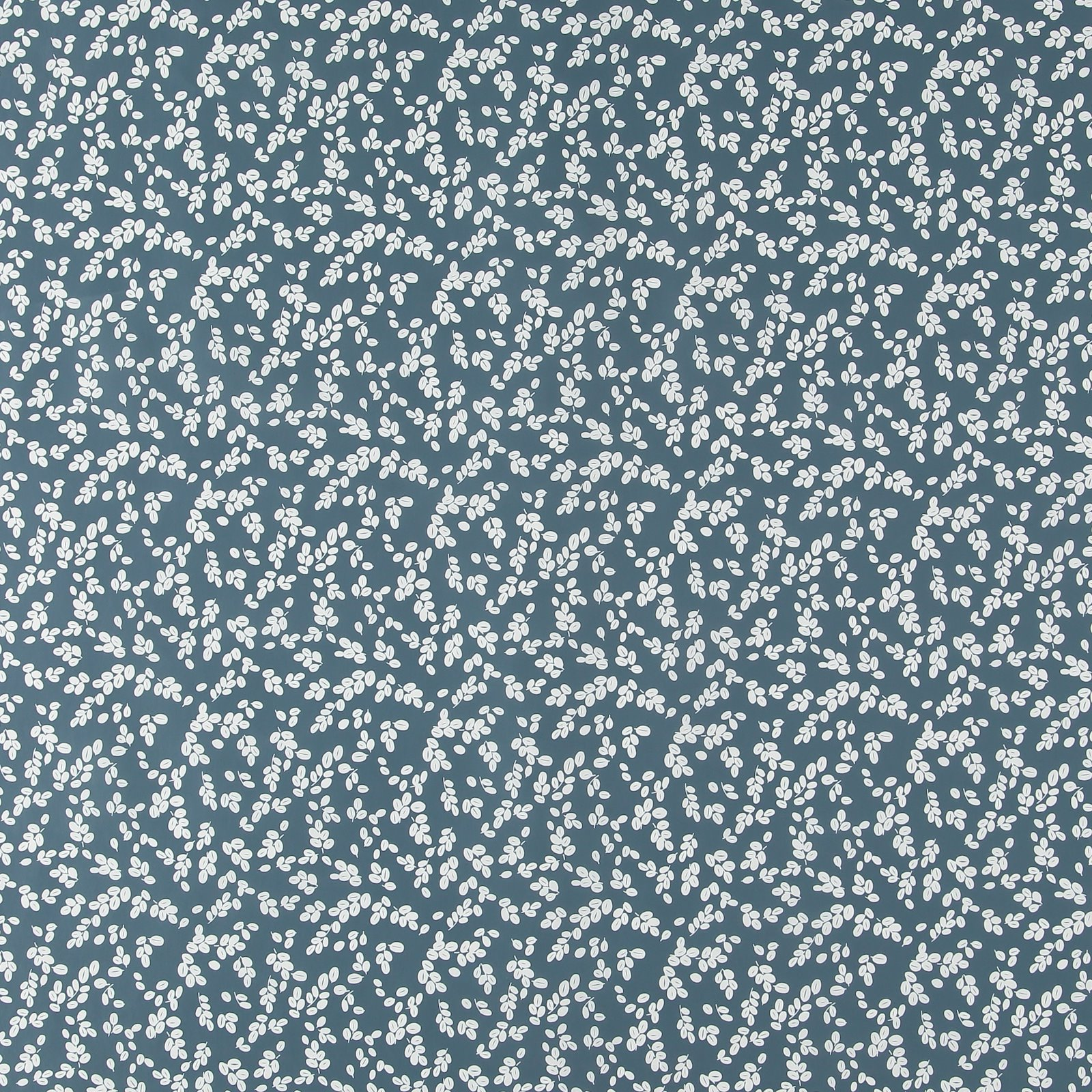 Non-woven oilcloth blue w white leaves 866113_pack_sp