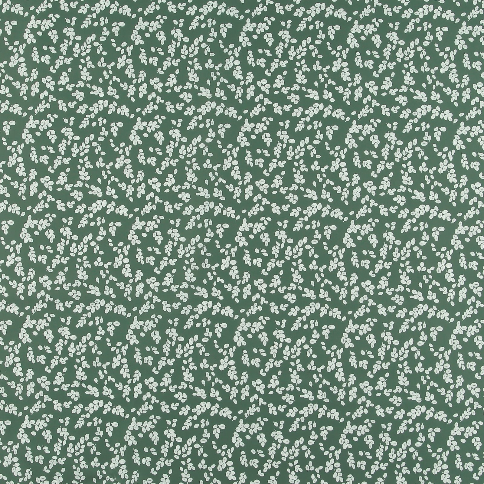 Non-woven oilcloth green w white leaves 866129_pack_sp