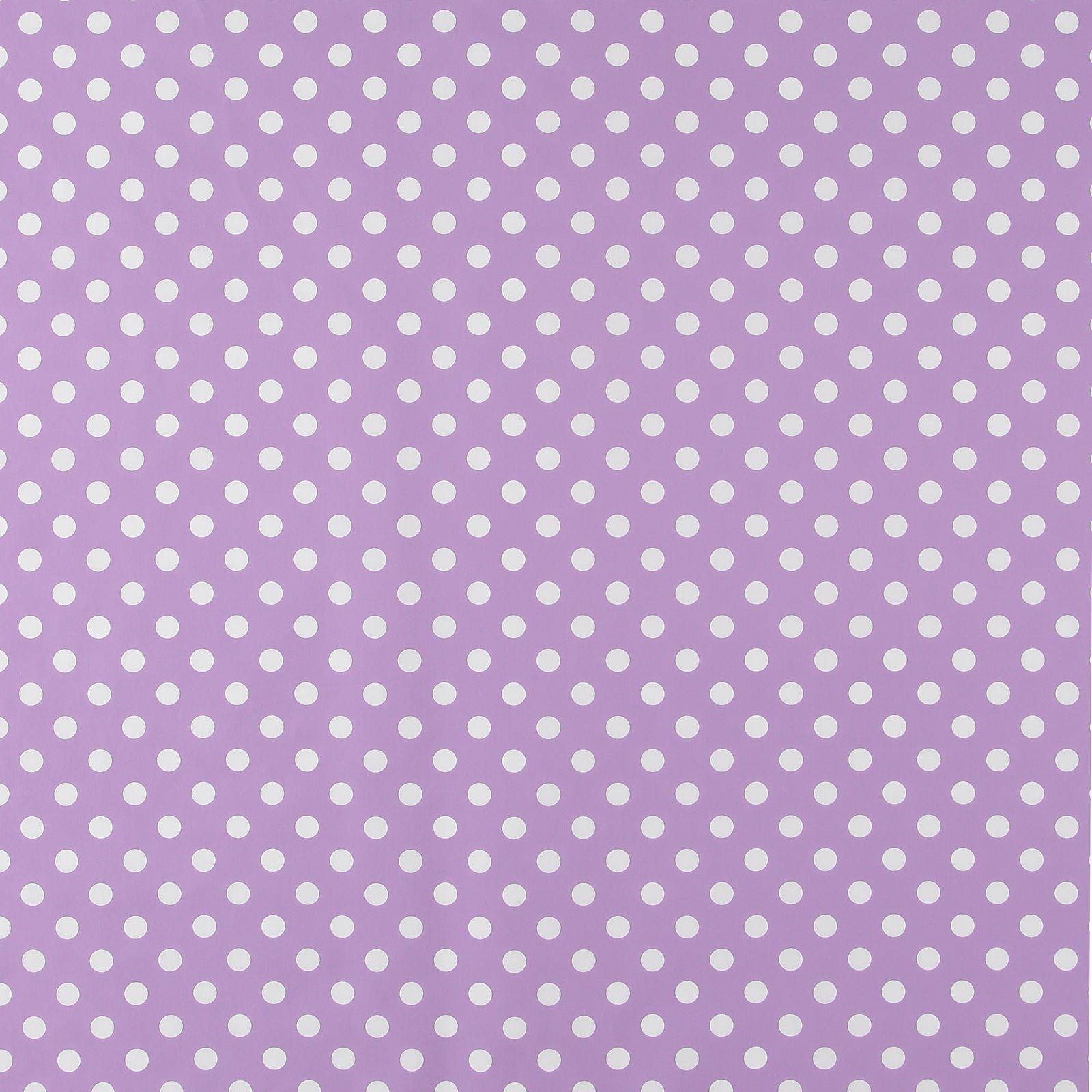 Non-woven oilcloth purple w white dots 866118_pack_sp