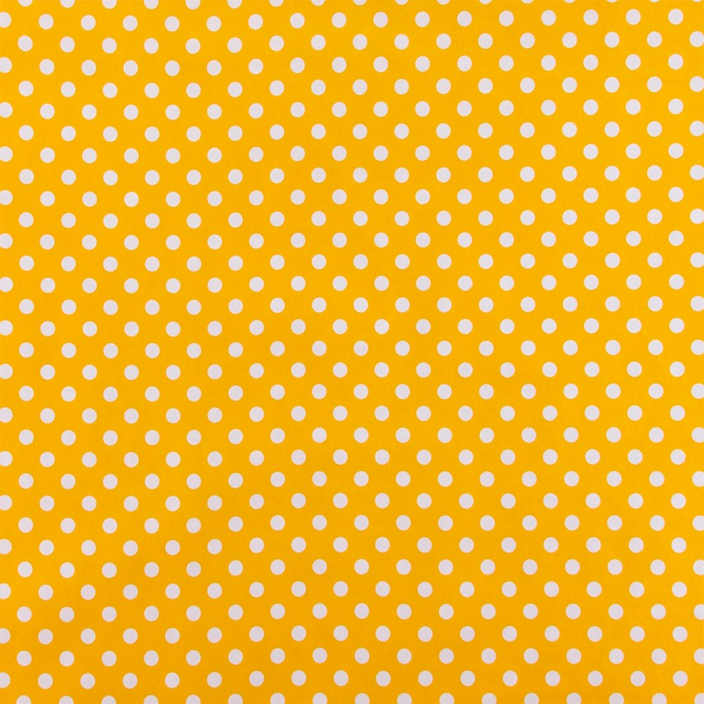 Non-woven oilcloth yellow w white dots 861376_pack_sp
