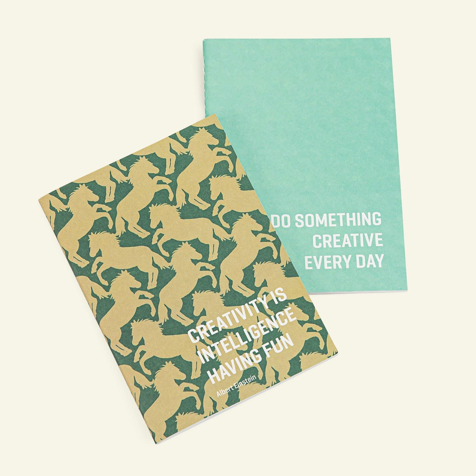 Notebook 10x14cm horse + mint green 2pcs 93901_pack
