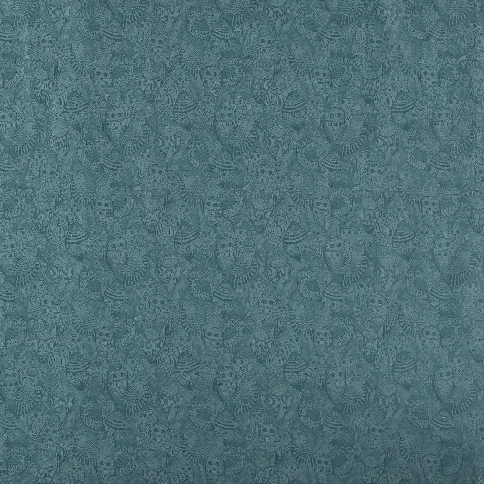 Organic cotton dark dust aqua w owls 780420_pack_sp