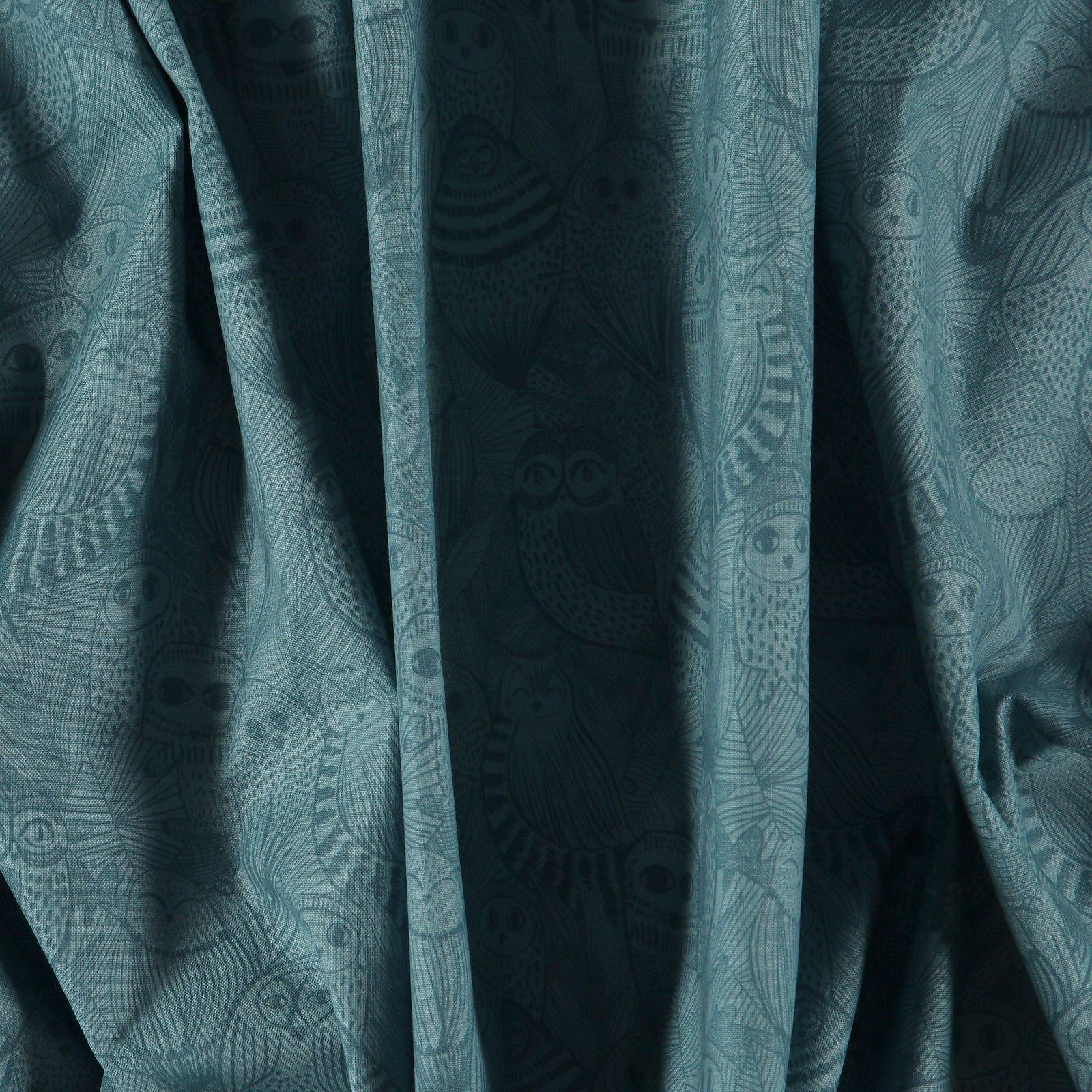 Organic cotton dark dust aqua w owls 780420_pack
