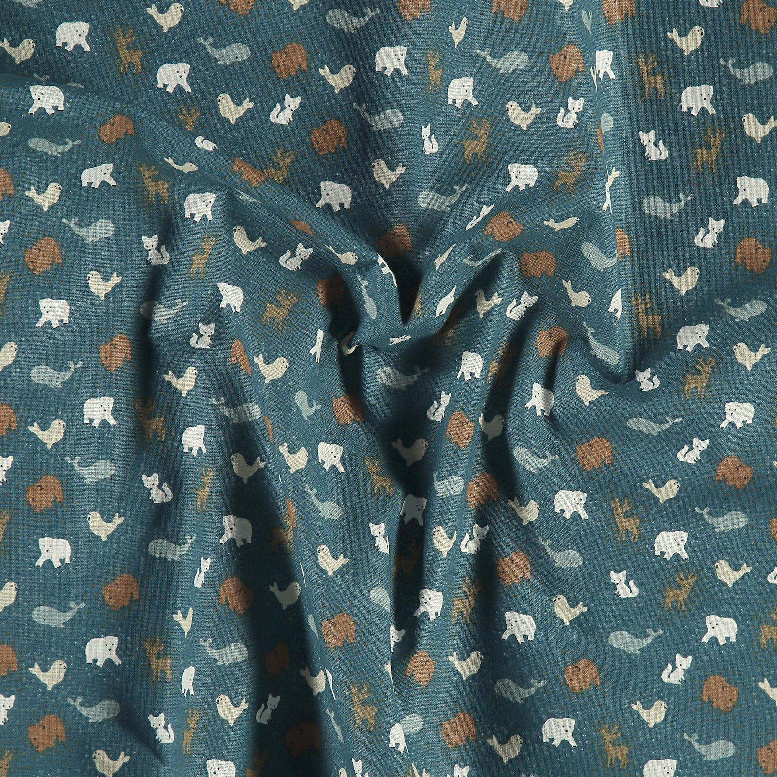 Organic cotton petrol green with animals 780551_pack