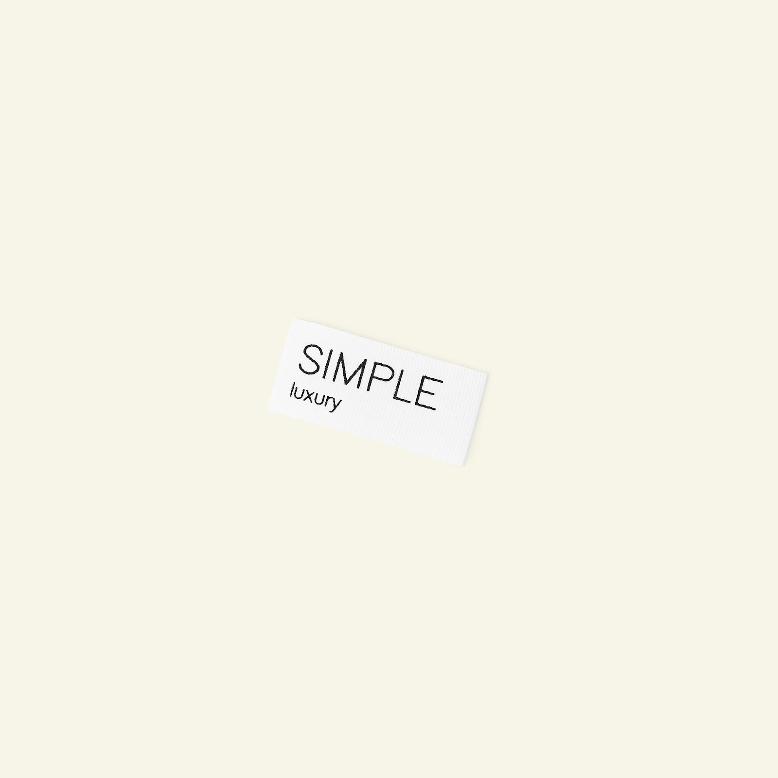 Organic patch Simple 18x40mm nature 2pcs 24865_pack