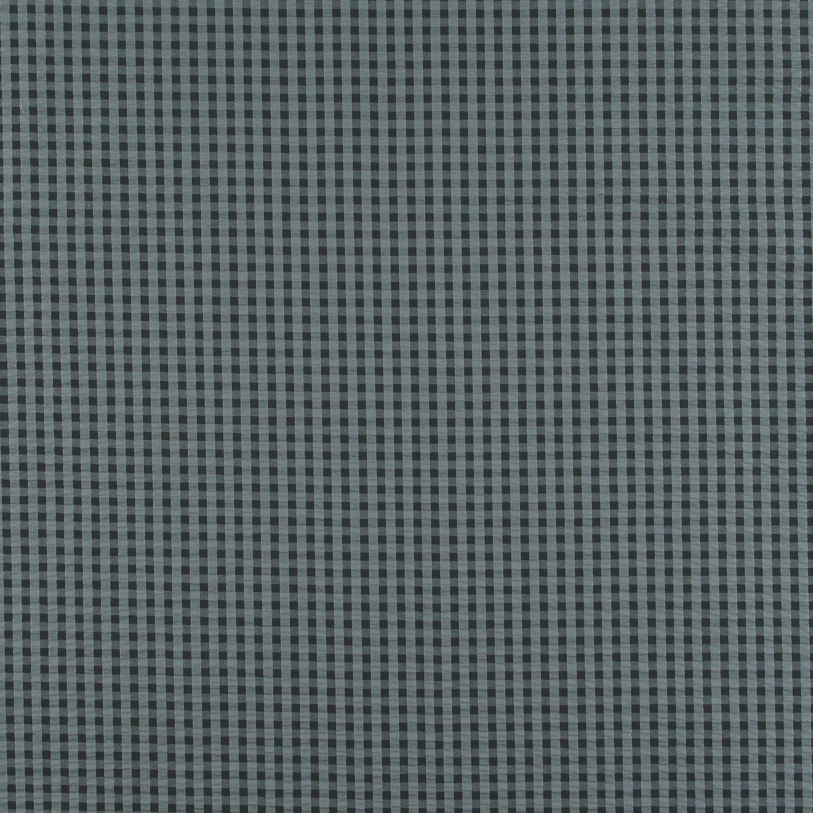 Organic seersucker bluegrey/black check 580072_pack_sp