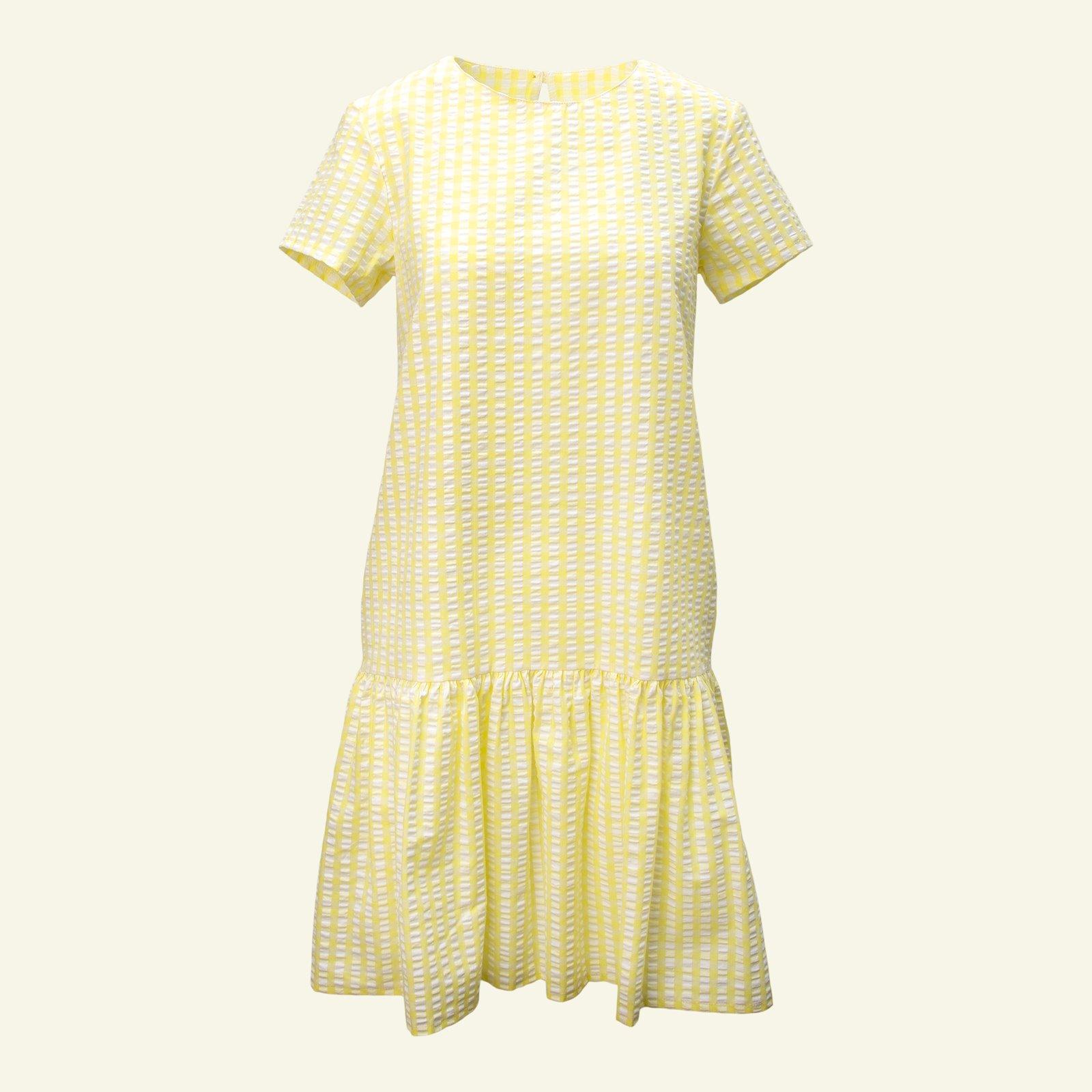 Organic seersucker lemon/white check p23145_580046_sskit