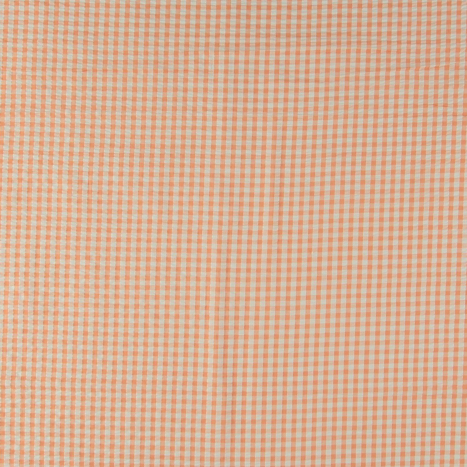 Organic seersucker peach/white check 580047_pack_sp