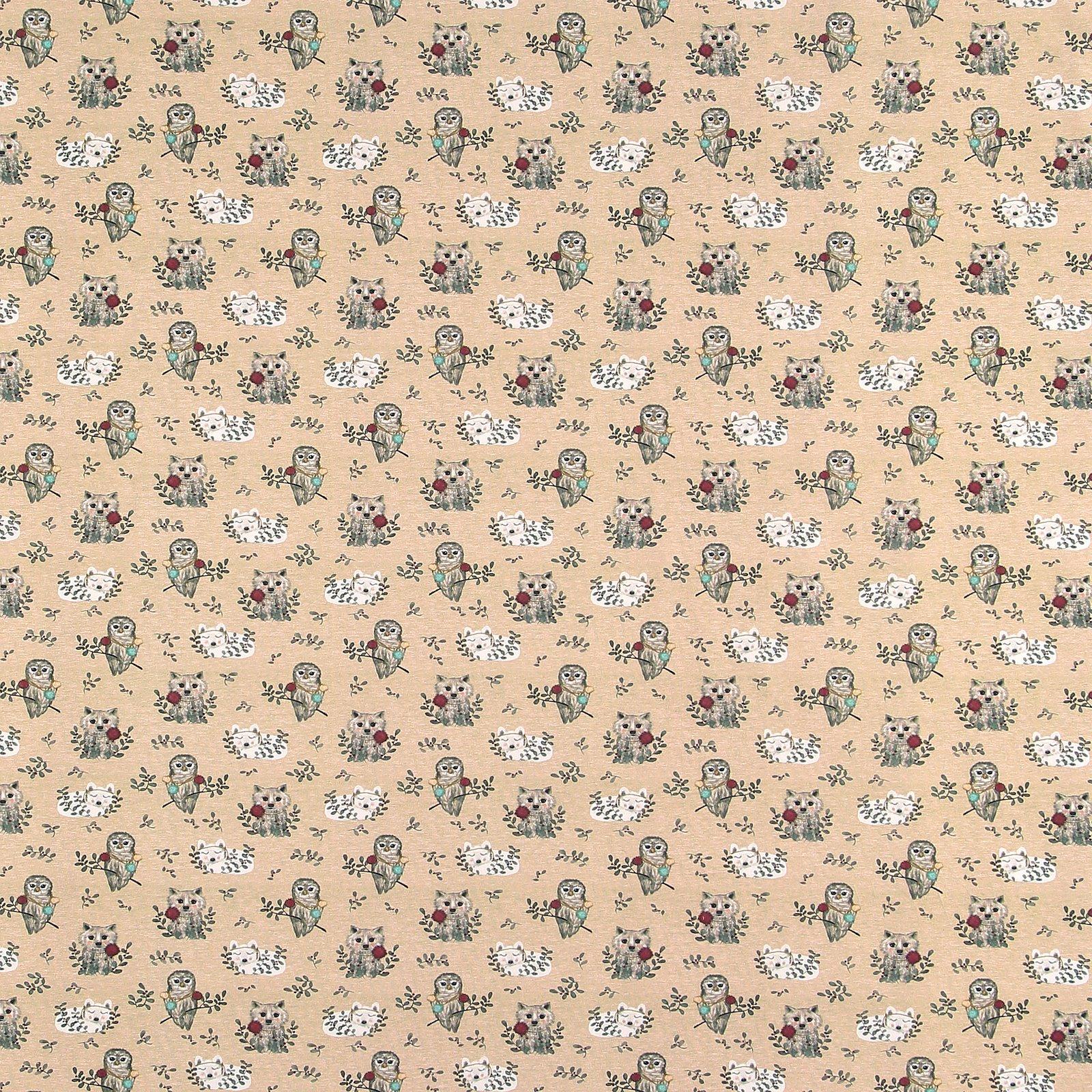 Organic st jersey sand melange w animals 272797_pack_sp