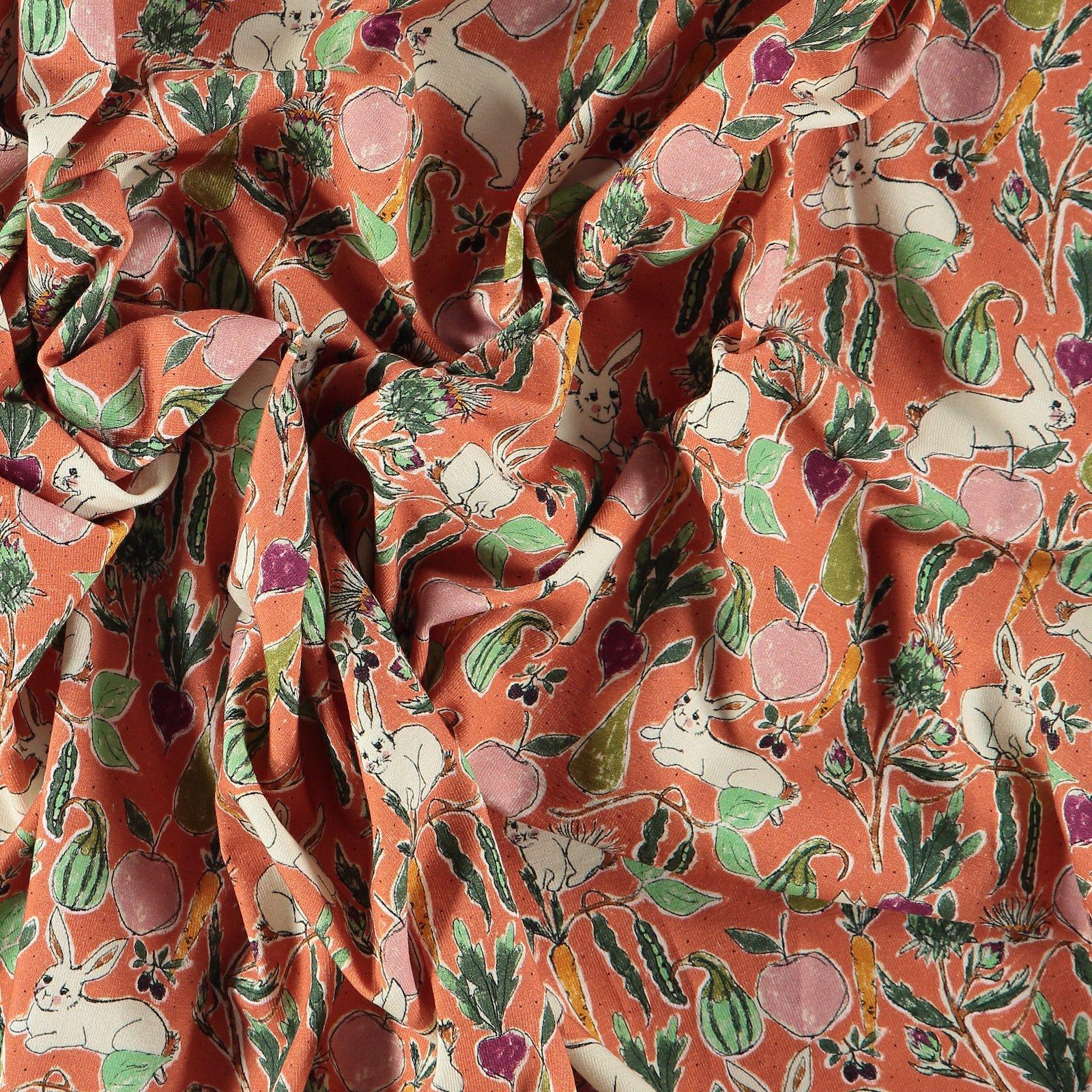 Organic str jersey terracotta w. rabbits 270034_pack