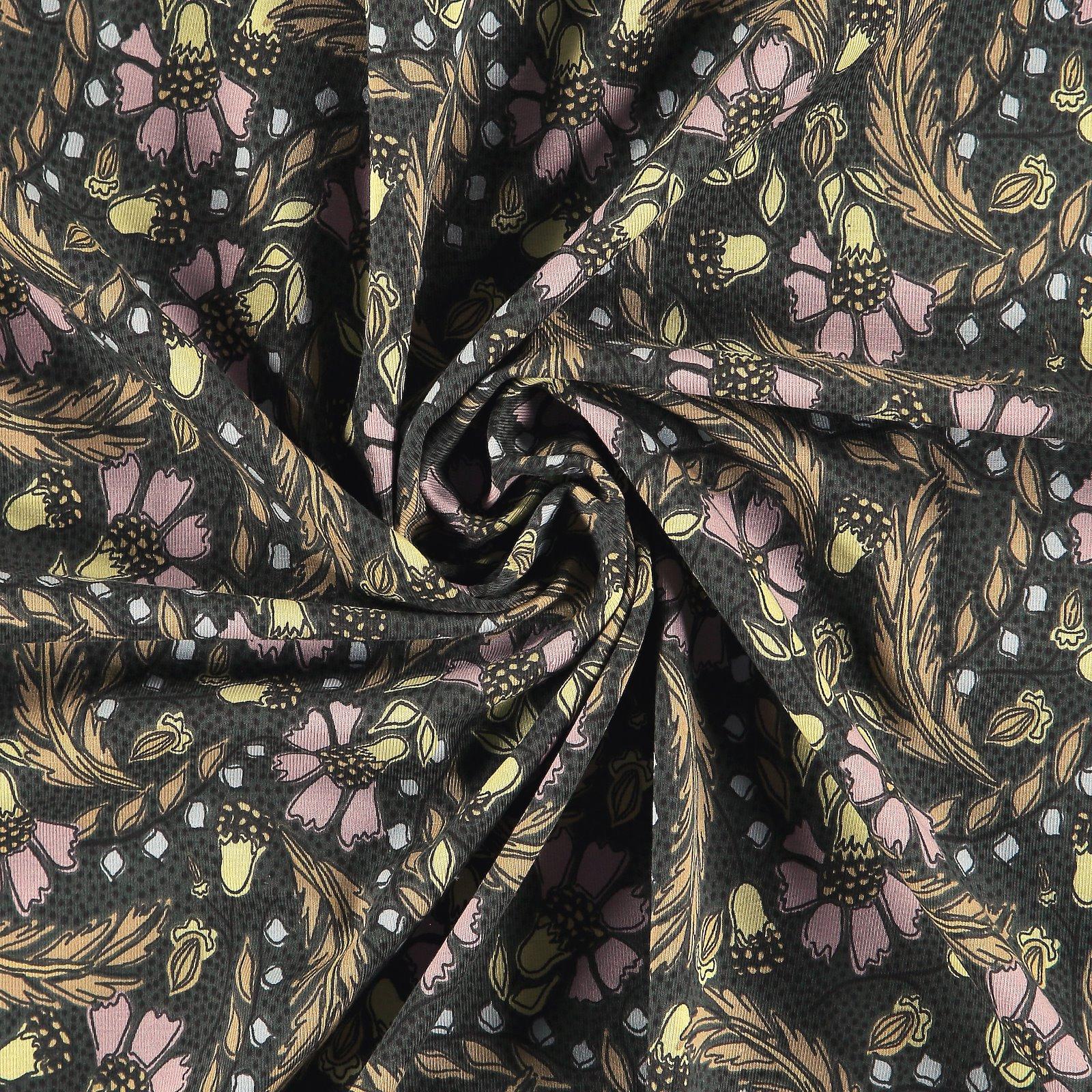 Organic stretch jersey black w flowers 272791_pack