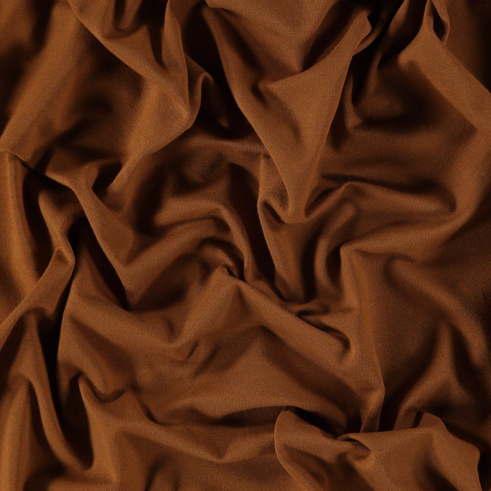 Organic stretch jersey dark caramel 272655_pack