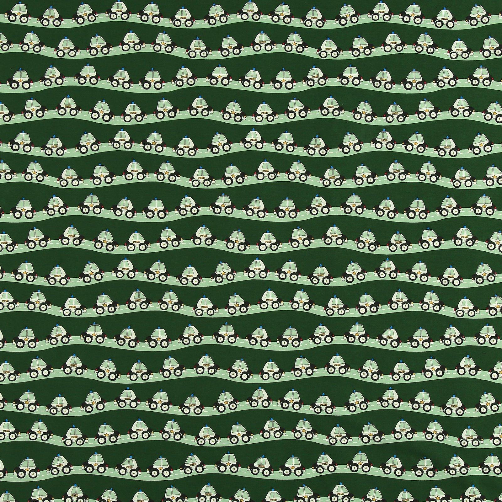 Organic stretch jersey dark green w cars 272709_pack_sp