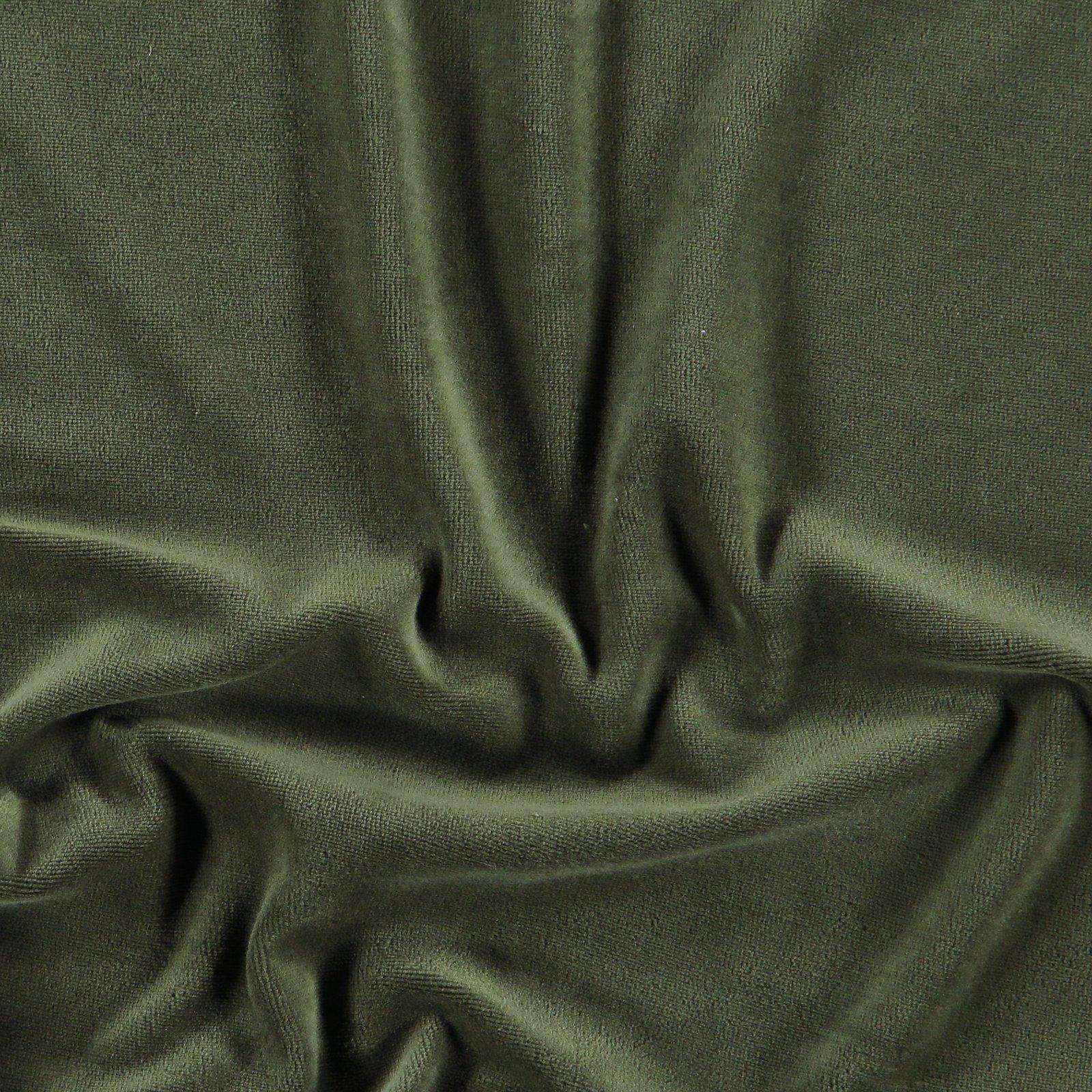 Organic stretch velvet army green 250752_pack