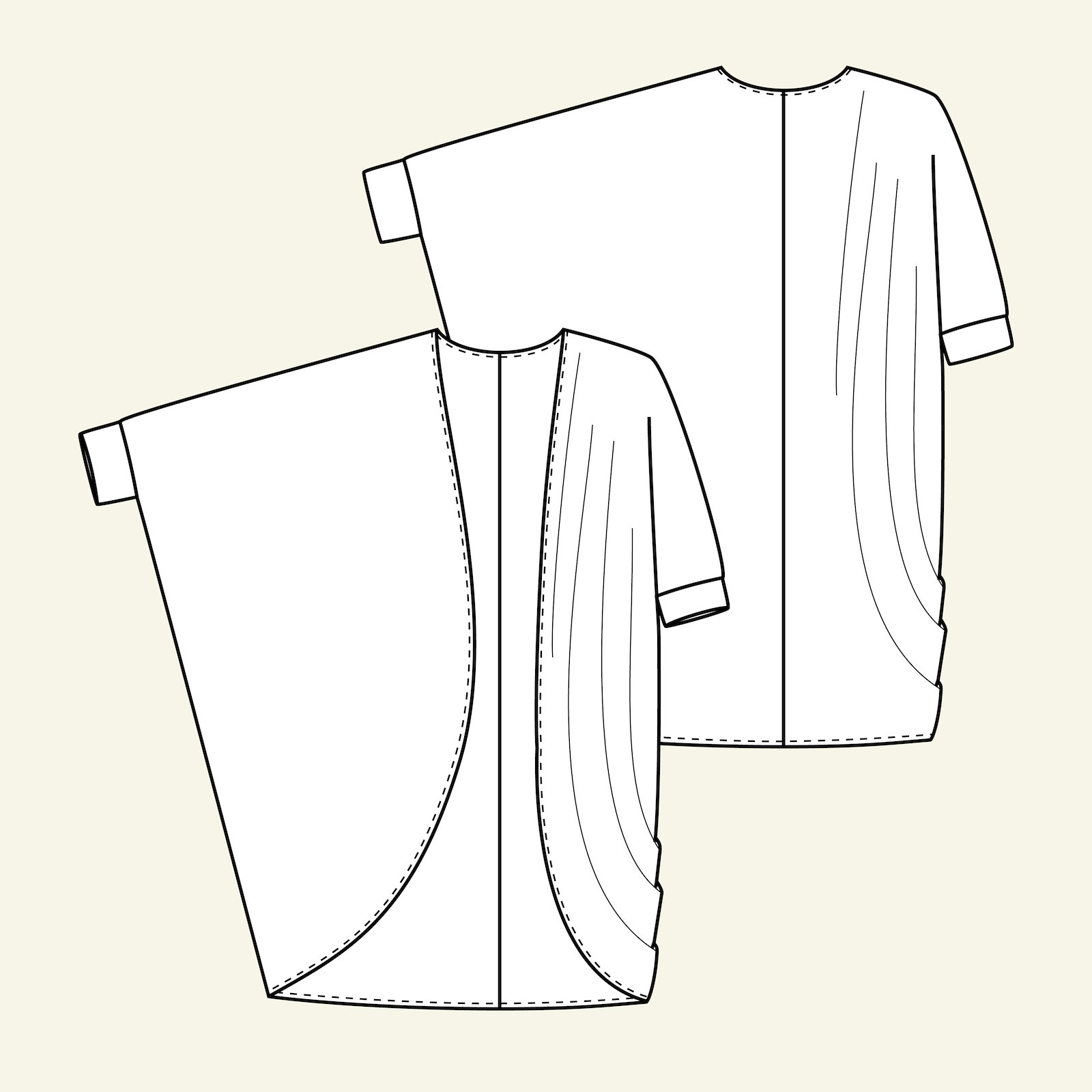 Oversize cardigan, 46/18 p72003_pack
