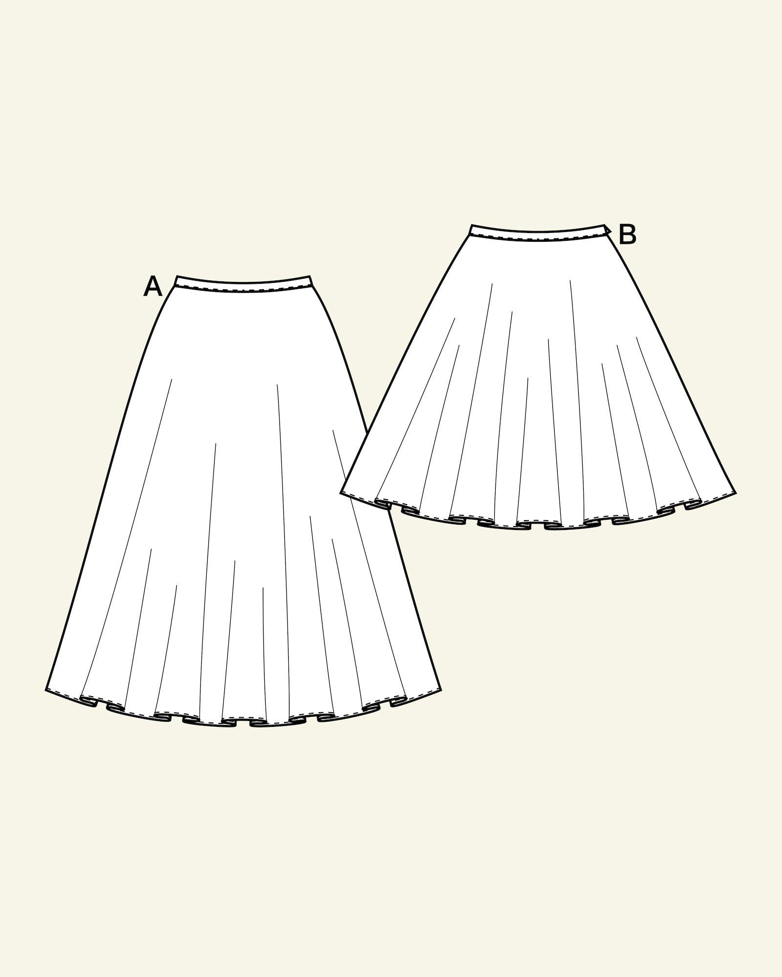Skirt 1/2 and 1/1 circular, 32/4