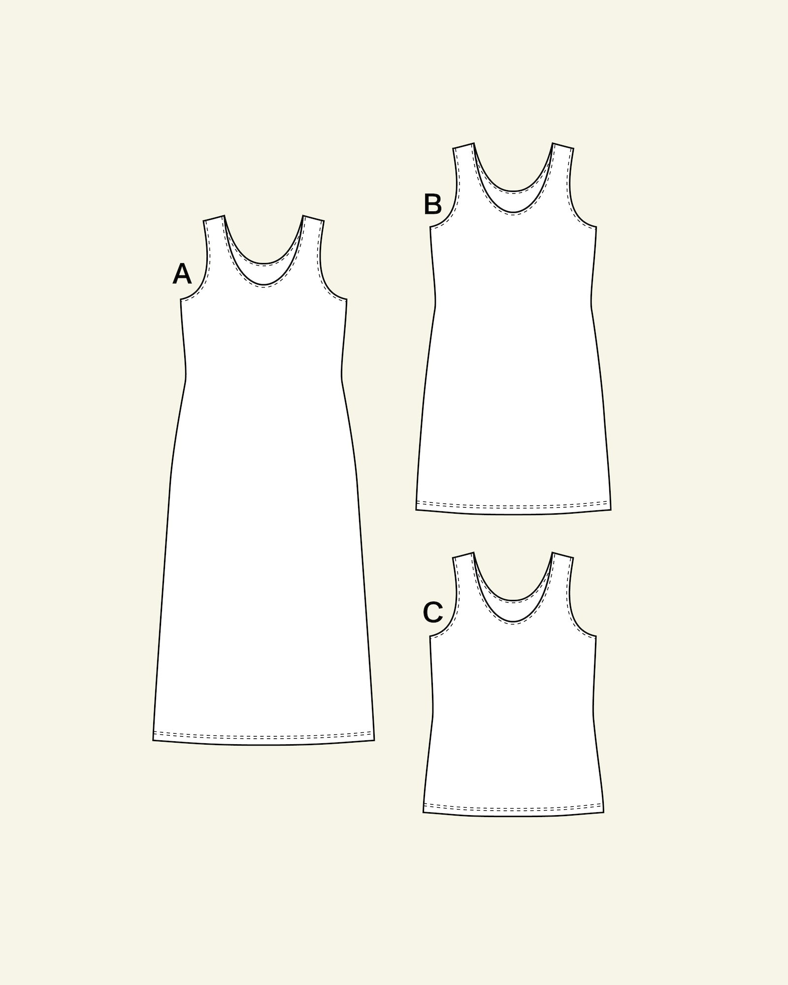 Top and dress, 44/16