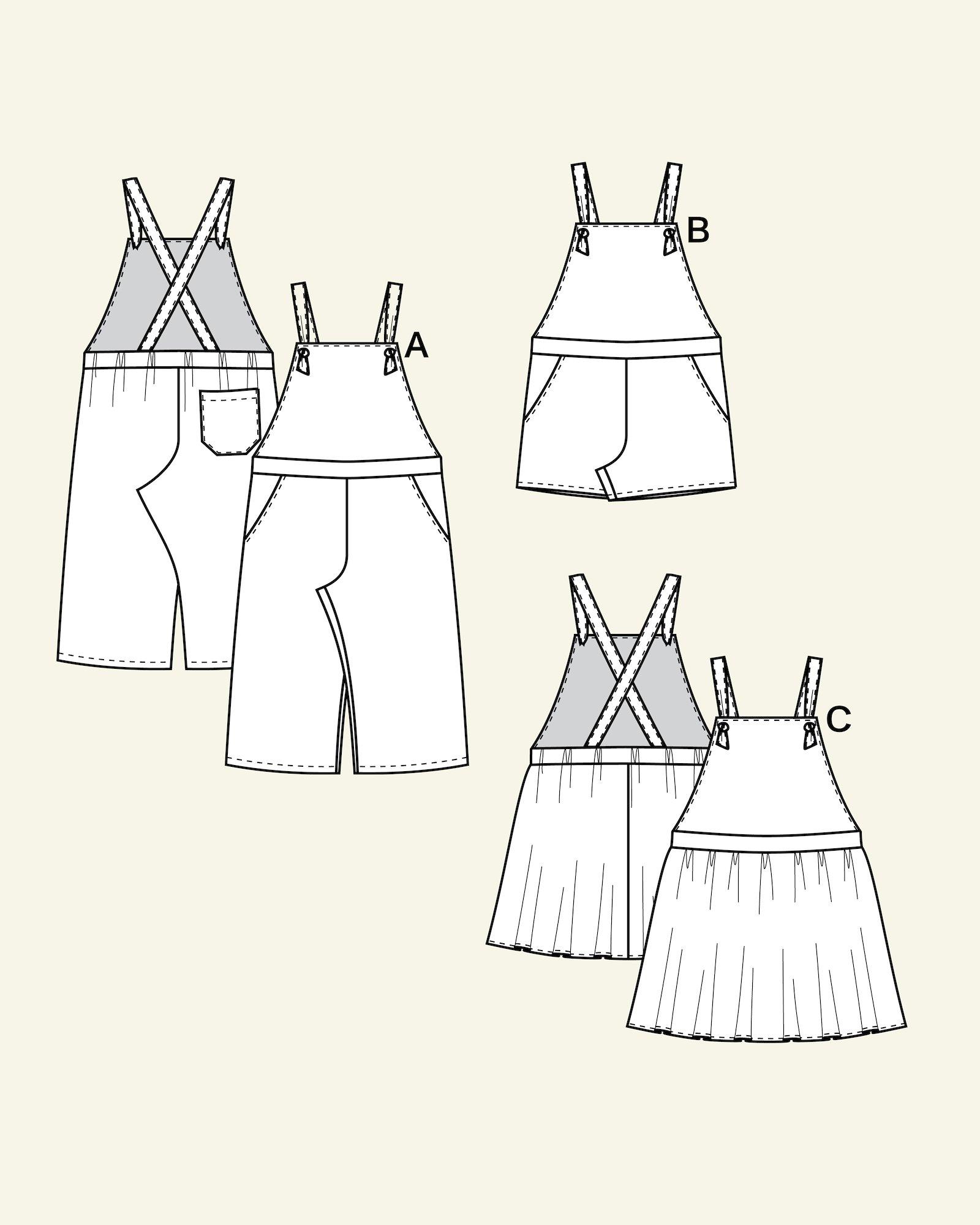 Overalls, shorts, pinafore, 104/3y