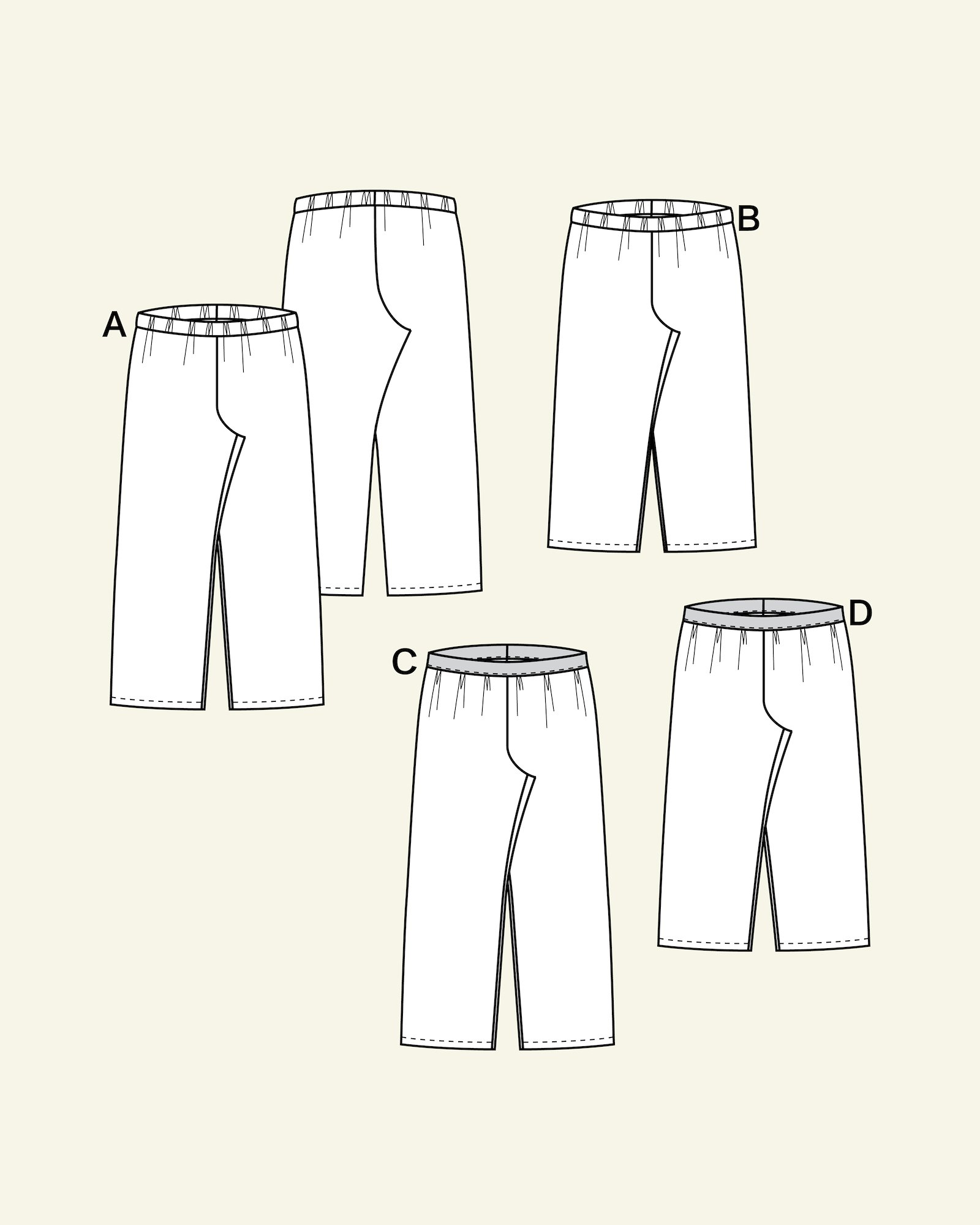 High waist and wide lege trouser, 104/4y