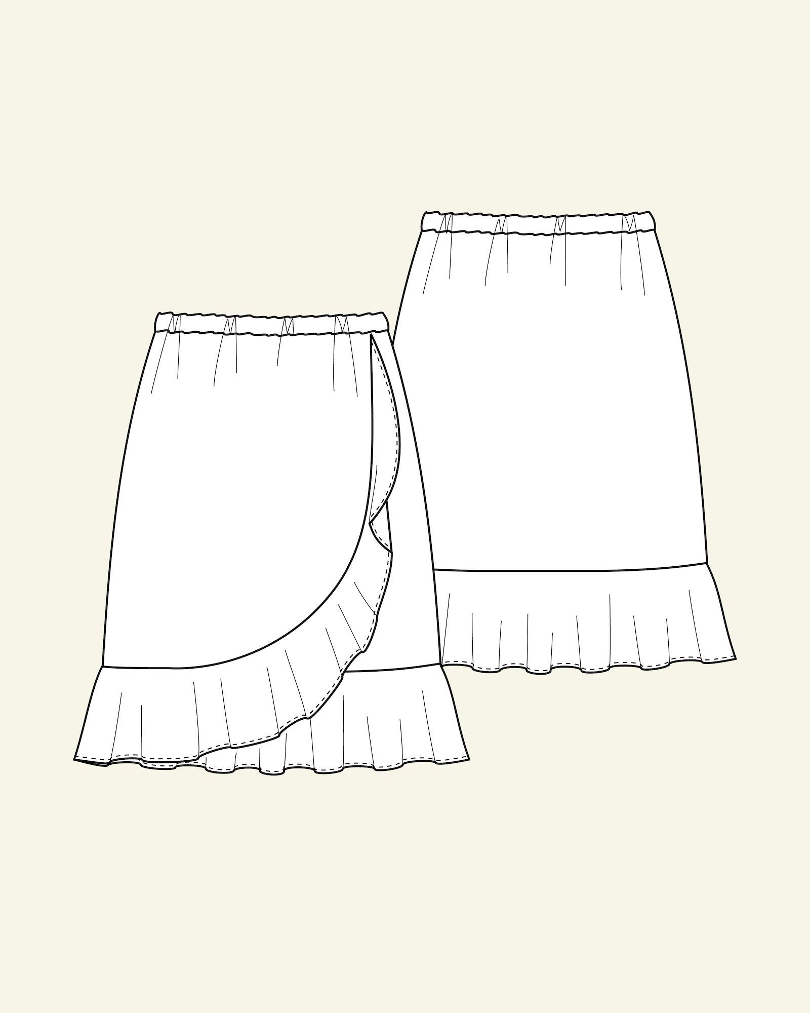 Skirt with flounce