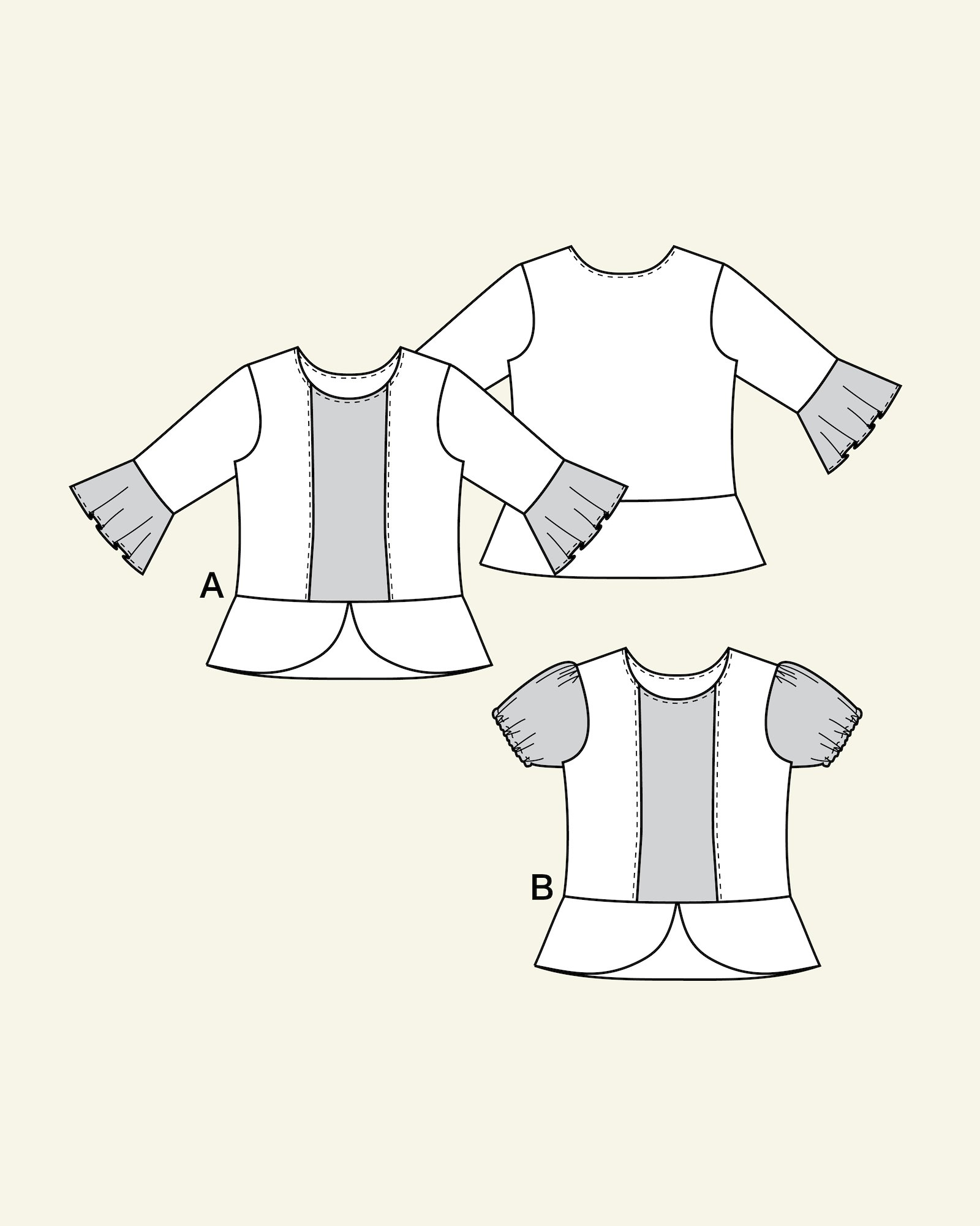Blouse with basque, 104/4y