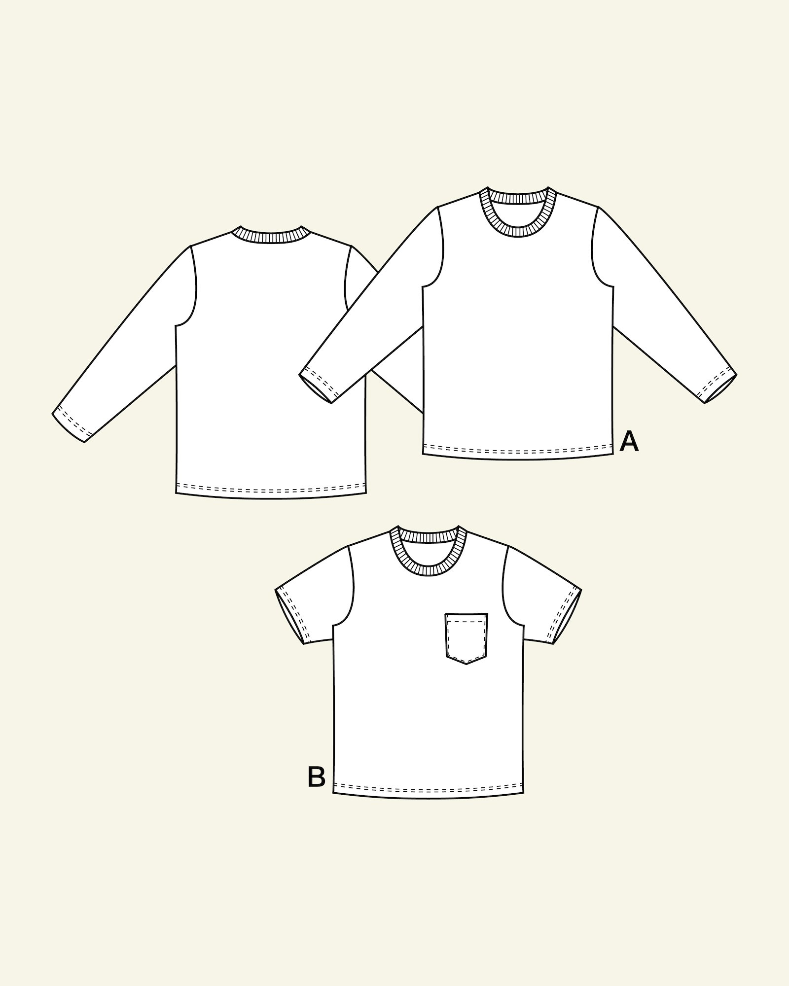 T-shirt with long and short, 104/4y