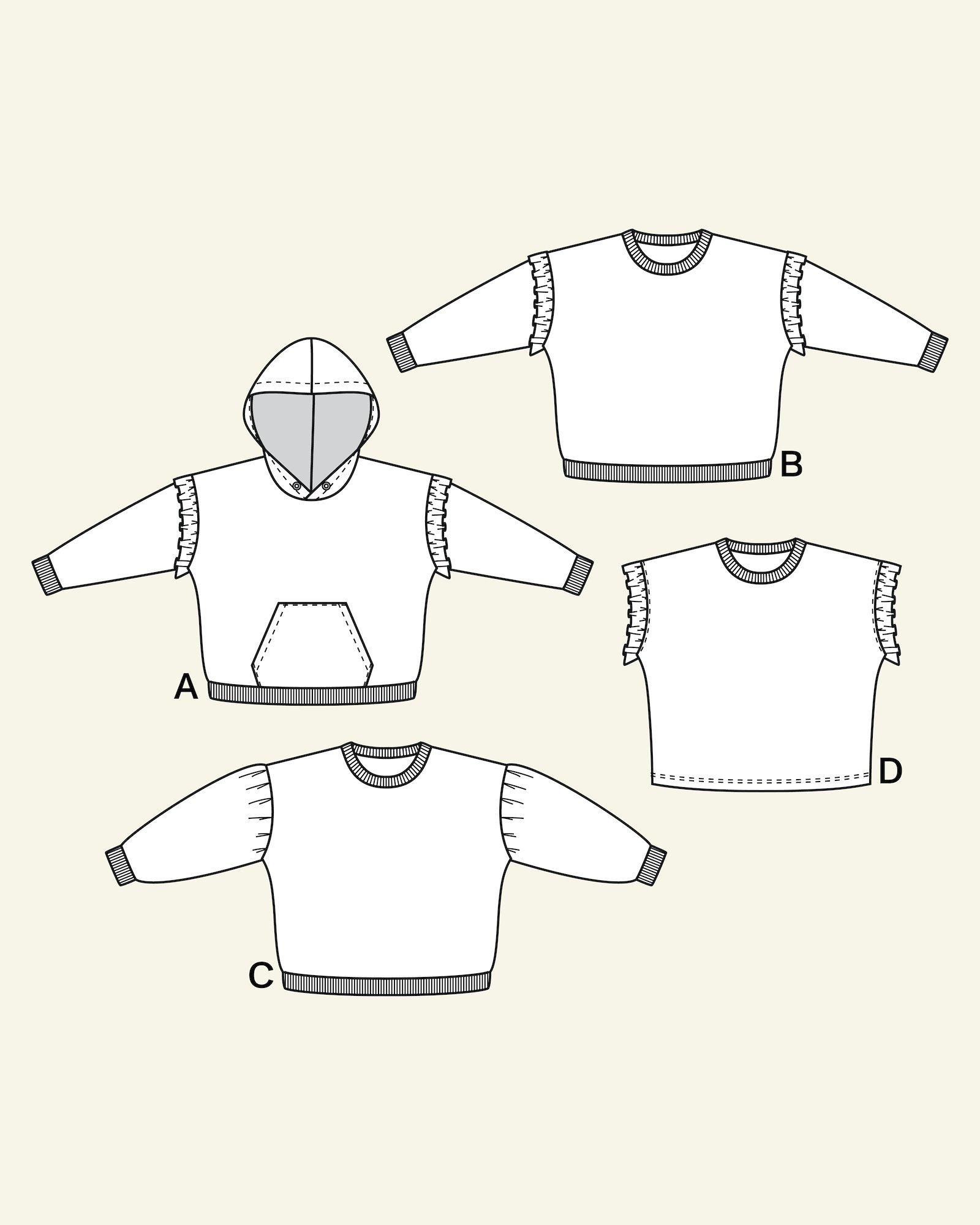 Sweatshirt w. hood + pocket, 98/3y