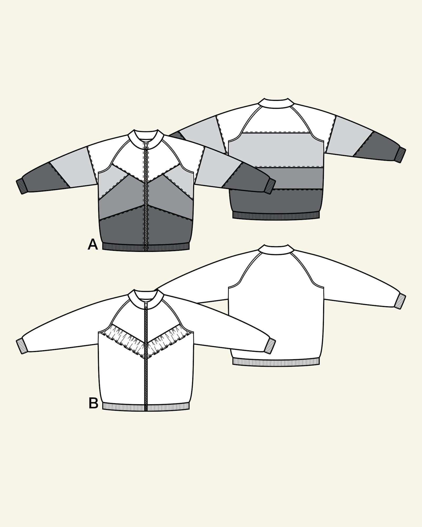 Jackets with raglan and flounce