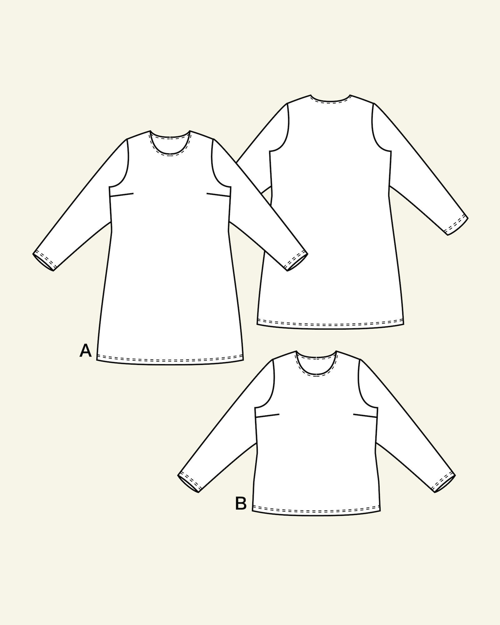 Kjole og bluse